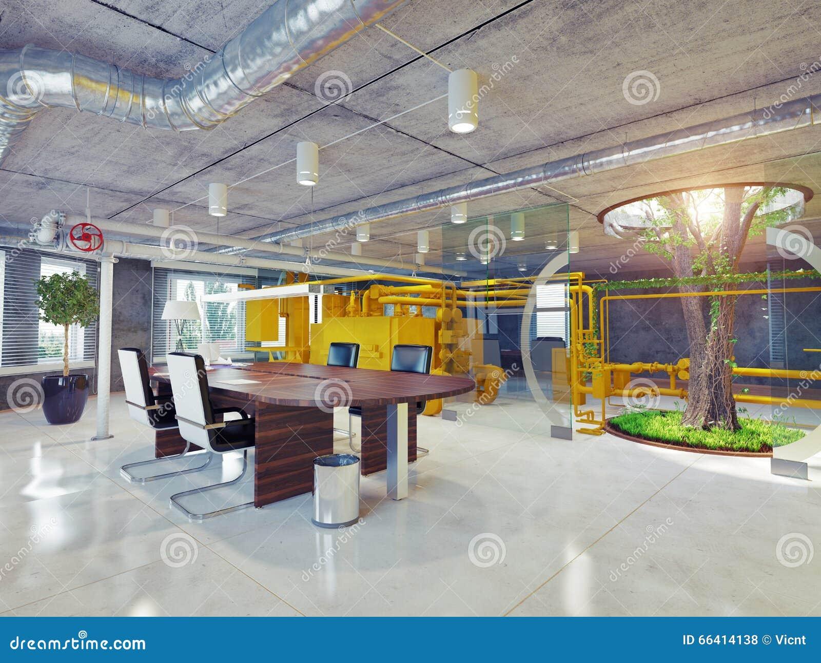 Eco office interior stock illustration illustration of design