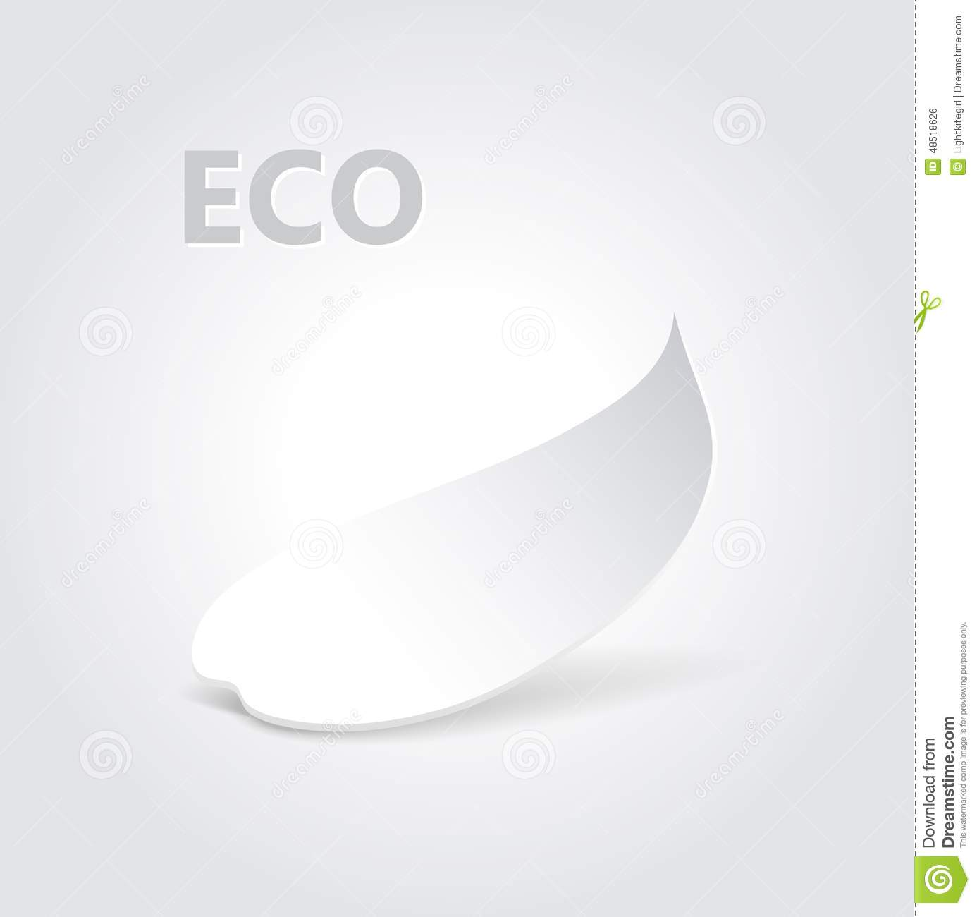 Eco Origami Leaf Vector Illustration Stock