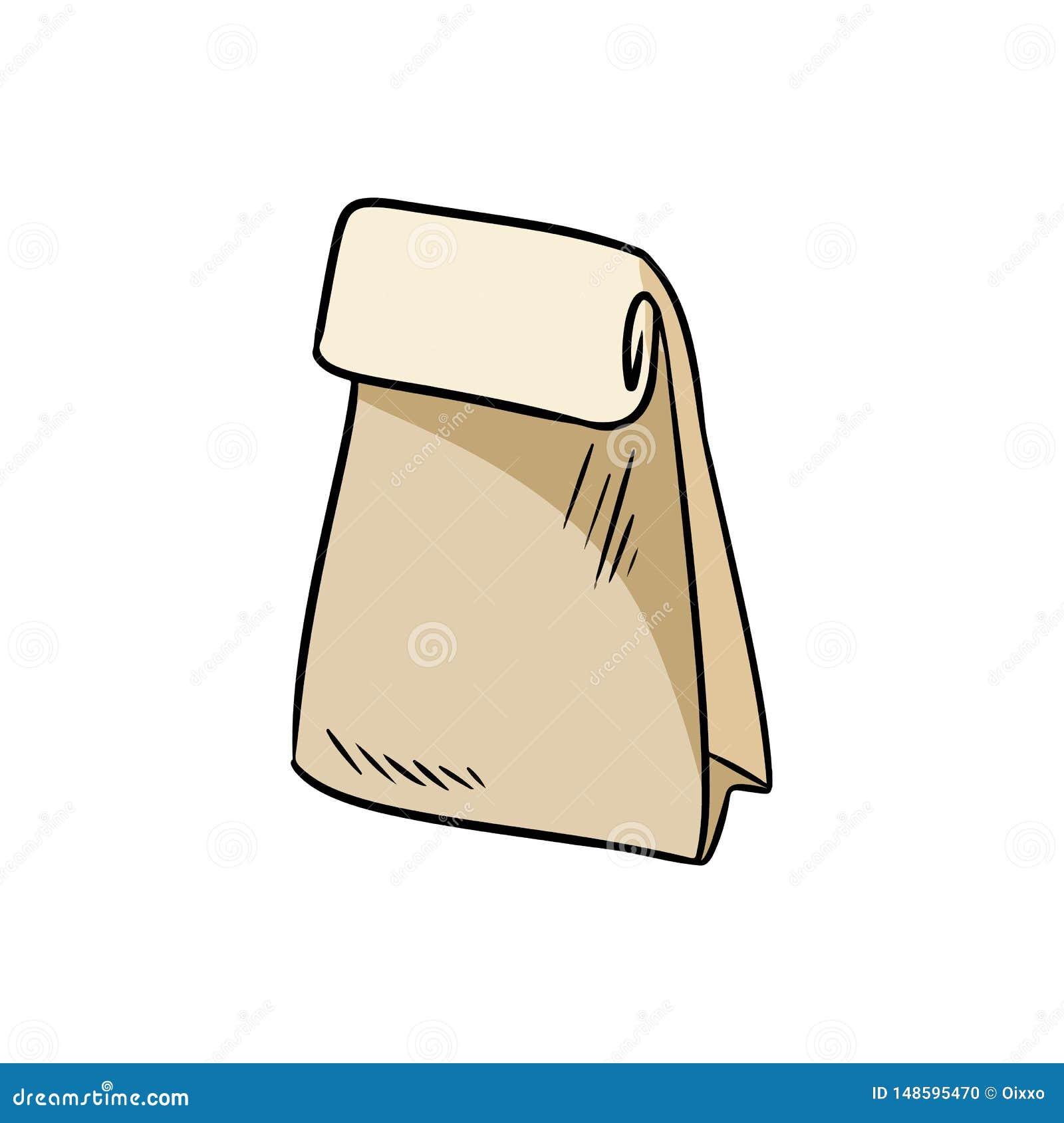 Eco papierowej torby życzliwy doodle Ekologiczny i odpady produkt E