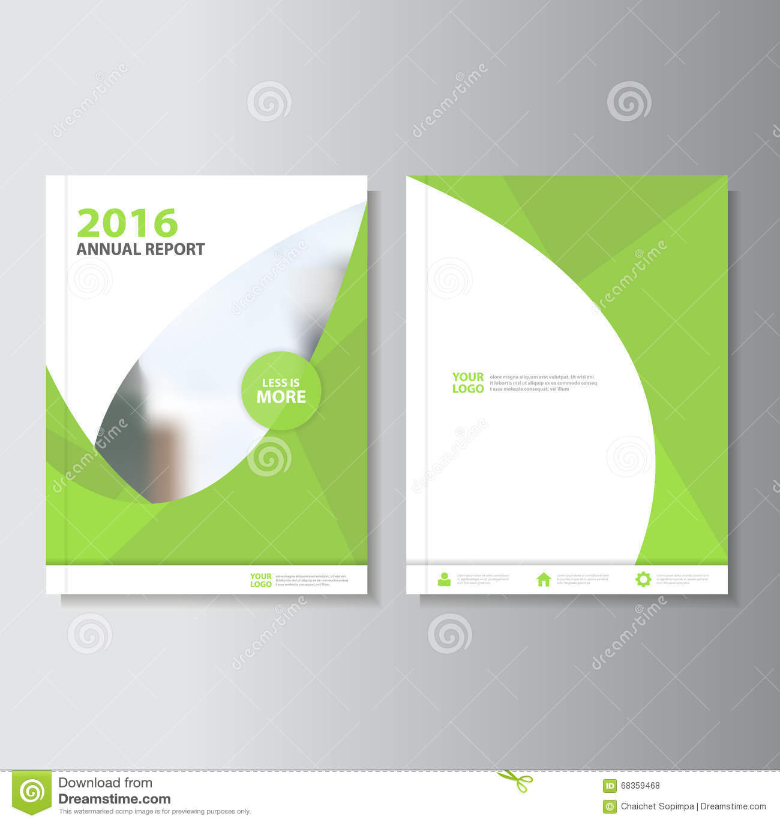 Eco pone verde el diseño de la plantilla del aviador del folleto del prospecto del informe anual del vector, diseño de la disposi