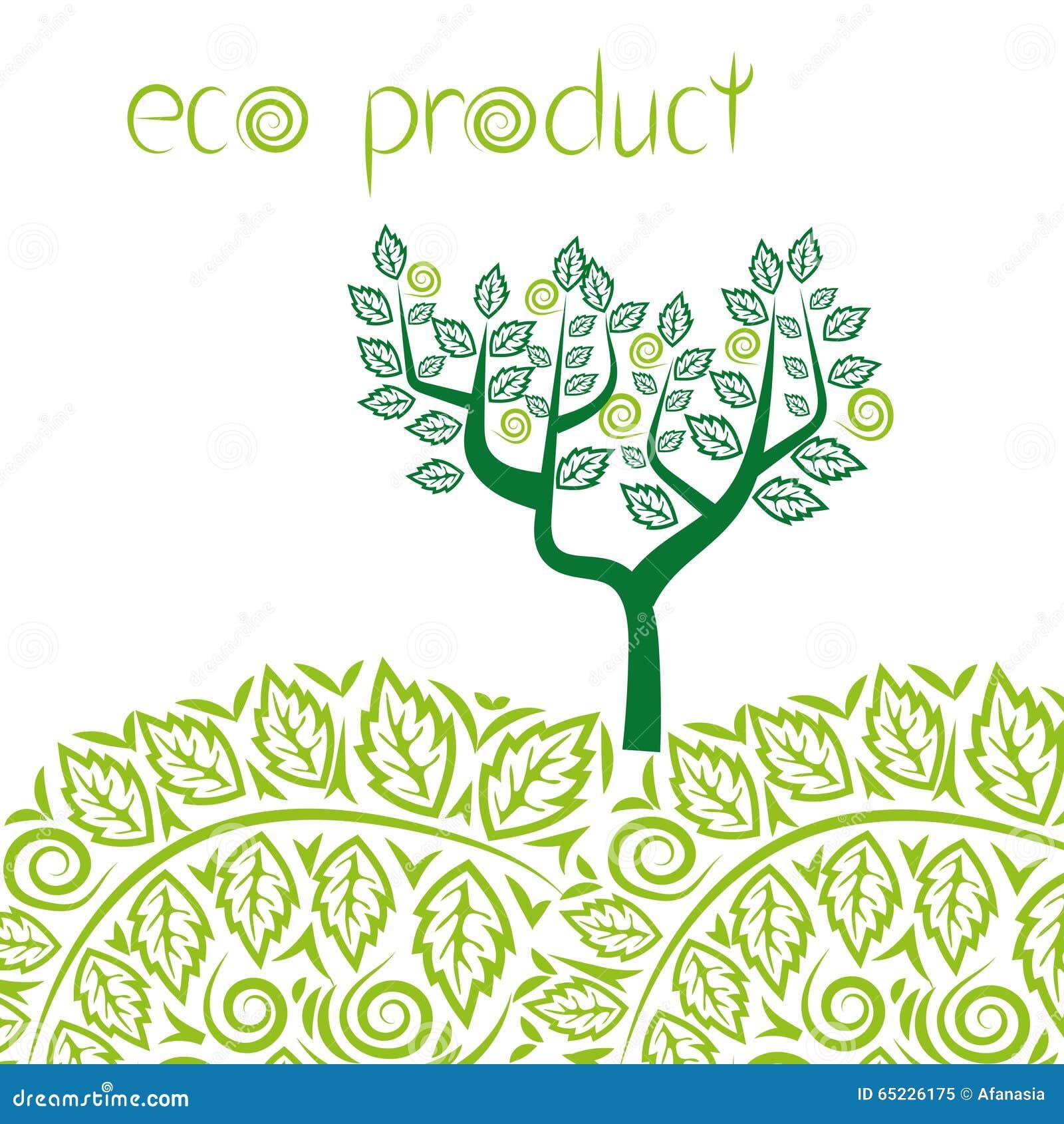 Eco produktu pojęcia tło abstrakcjonistyczny zielony drzewo