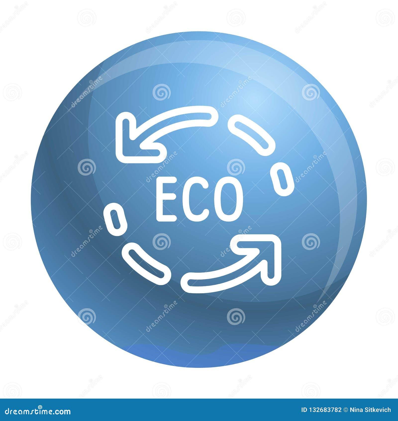 Eco réutilisent l icône de flèche, style d ensemble