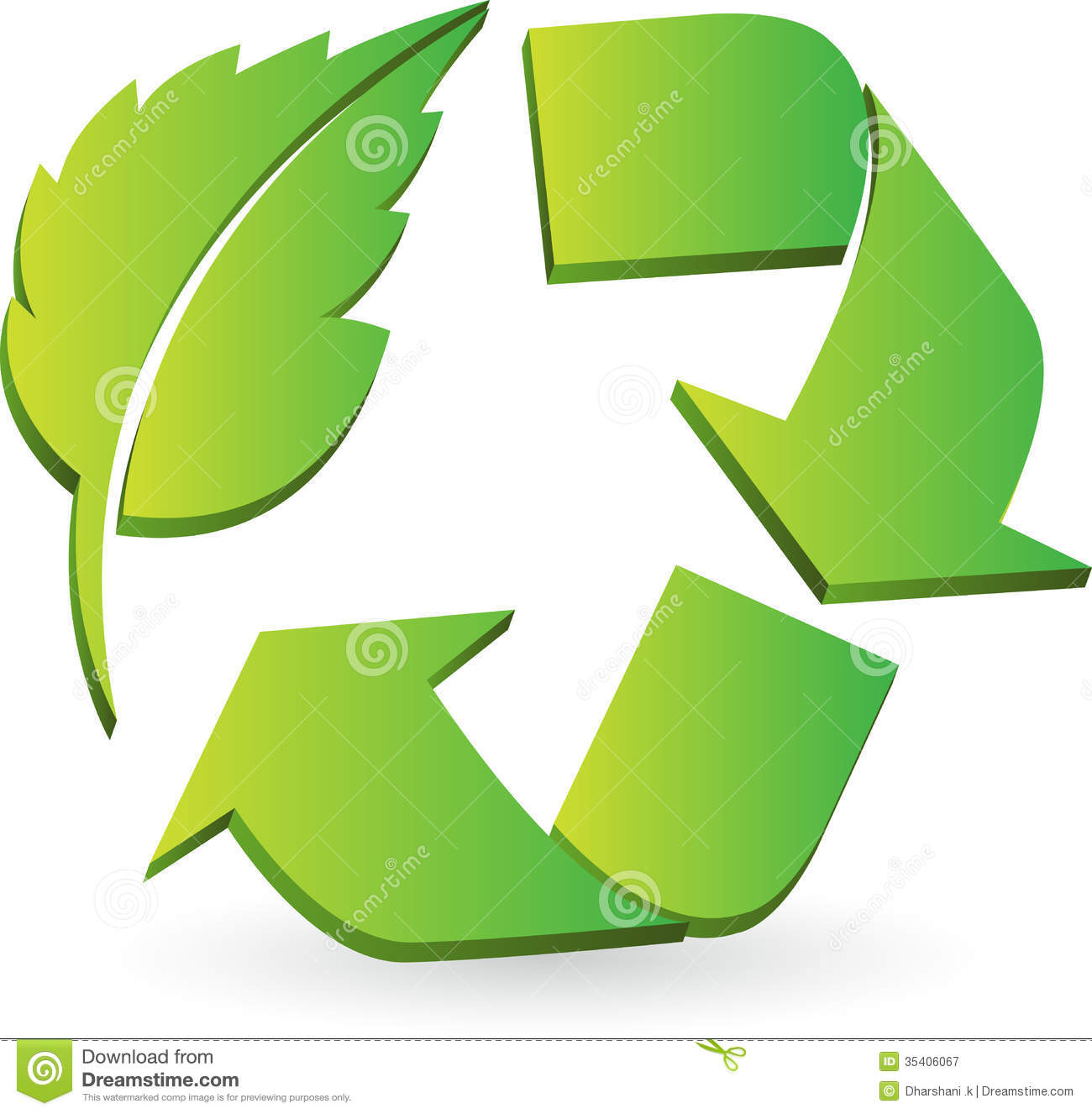 Eco Recycle Logo Stock Vector Illustration Of Ecology 35406067