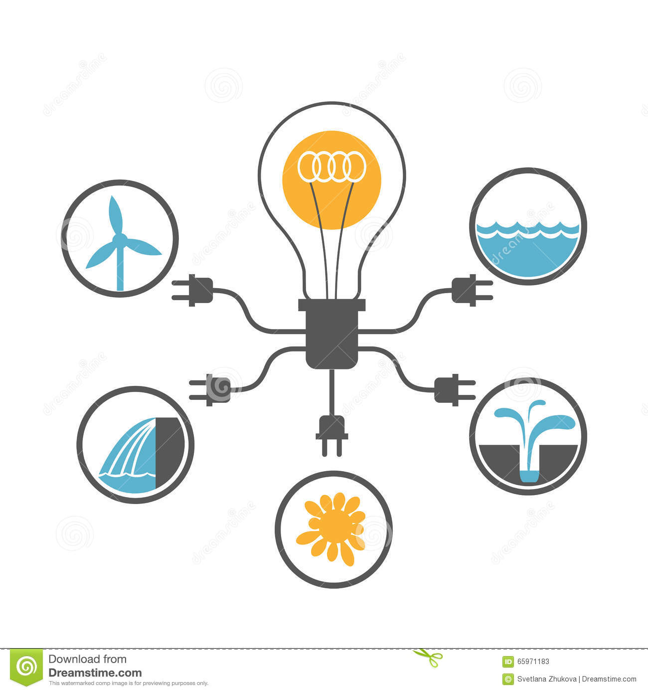 Eco Safe Energy Sources Concept Stock Photo - Image: 65971183