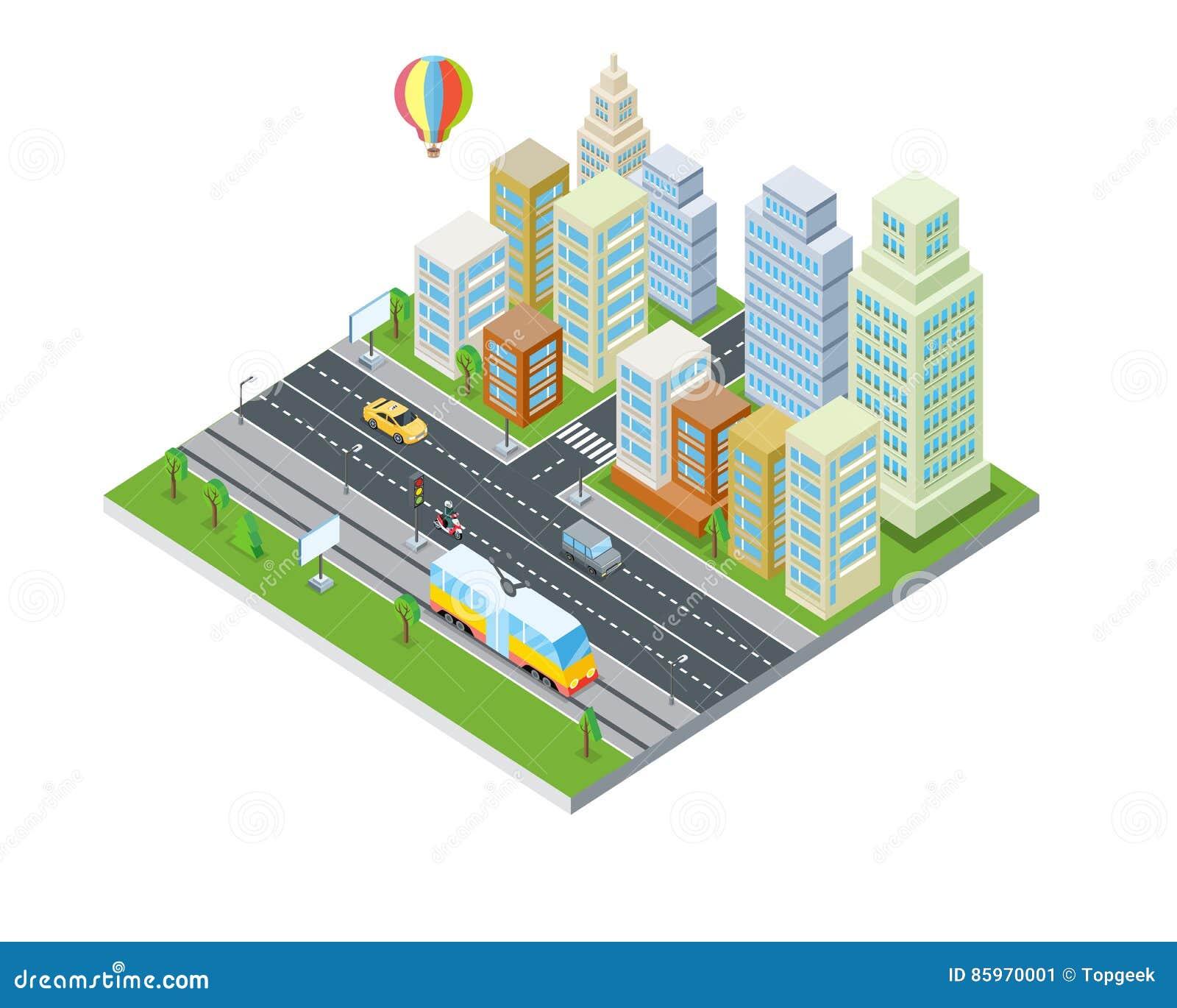 Eco-Stadt-Design Moderne Architektur Vektor Abbildung - Illustration ...