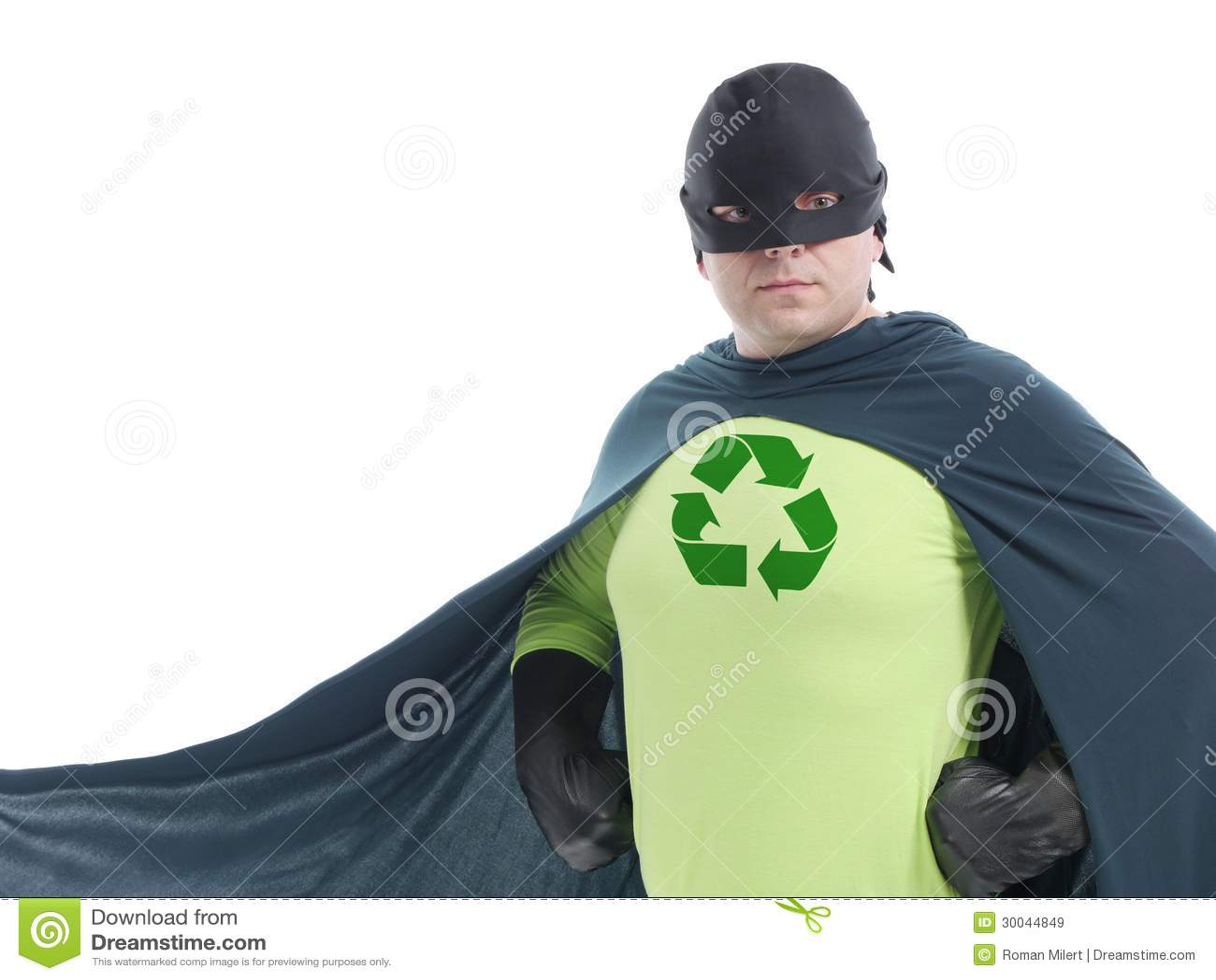 Eco Superhero Royalty Free Stock Images - Image: 30044849