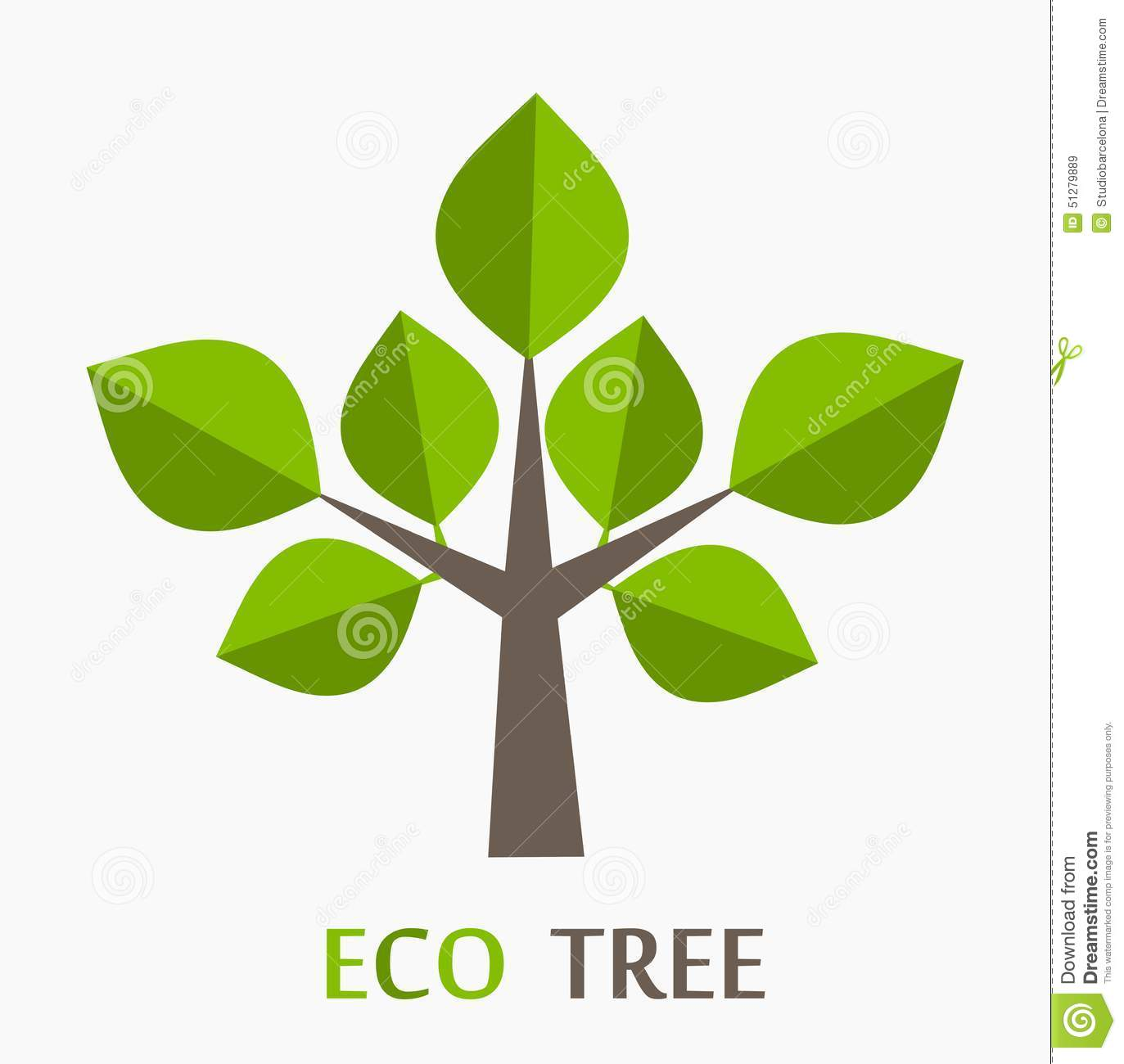 Eco Tree Stock Vector