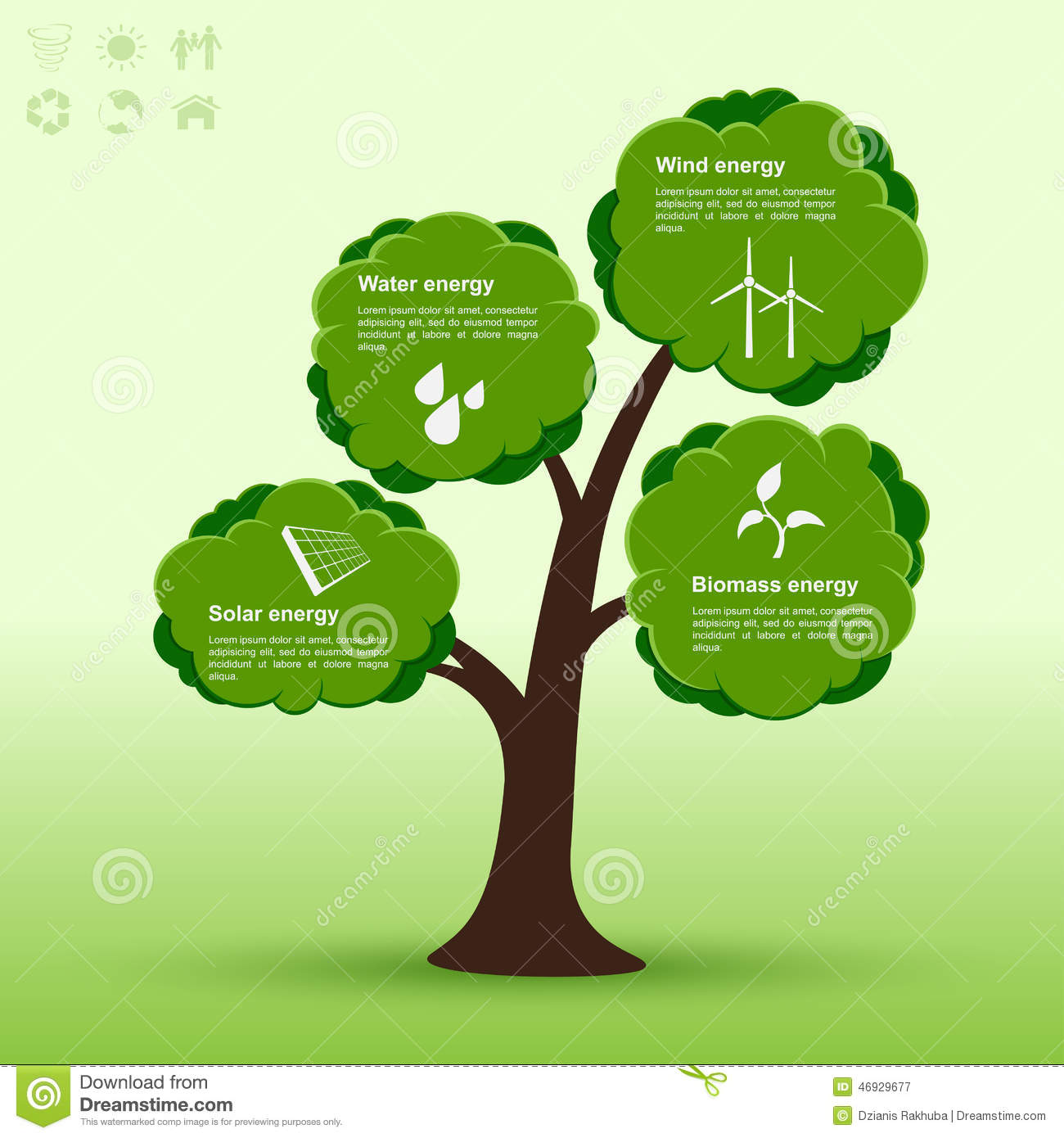 Eco-tree infographic stock vector. Illustration of info