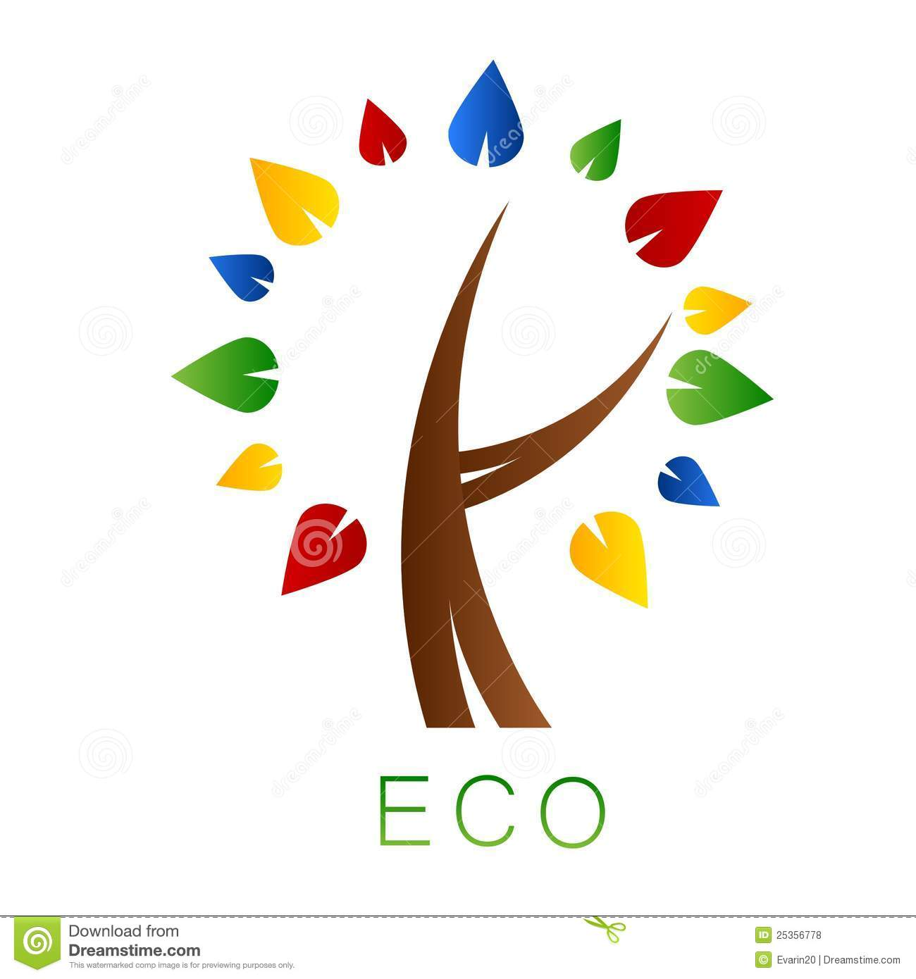 Eco Tree. Logo Royalty Free Stock Photos