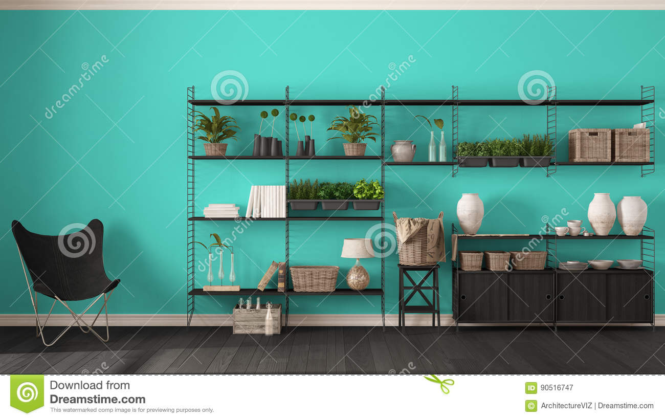 pretty nice 96f3a 0062b Eco Turquoise Interior Design With Wooden Bookshelf, Diy ...