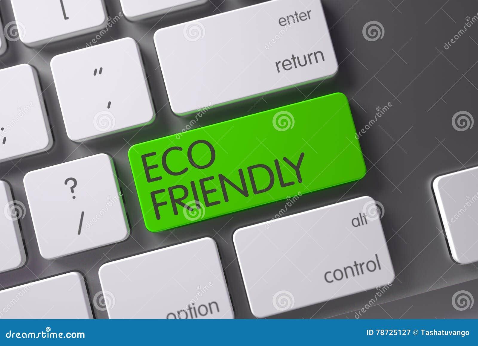 Eco vänlig CloseUp av tangentbordet 3d