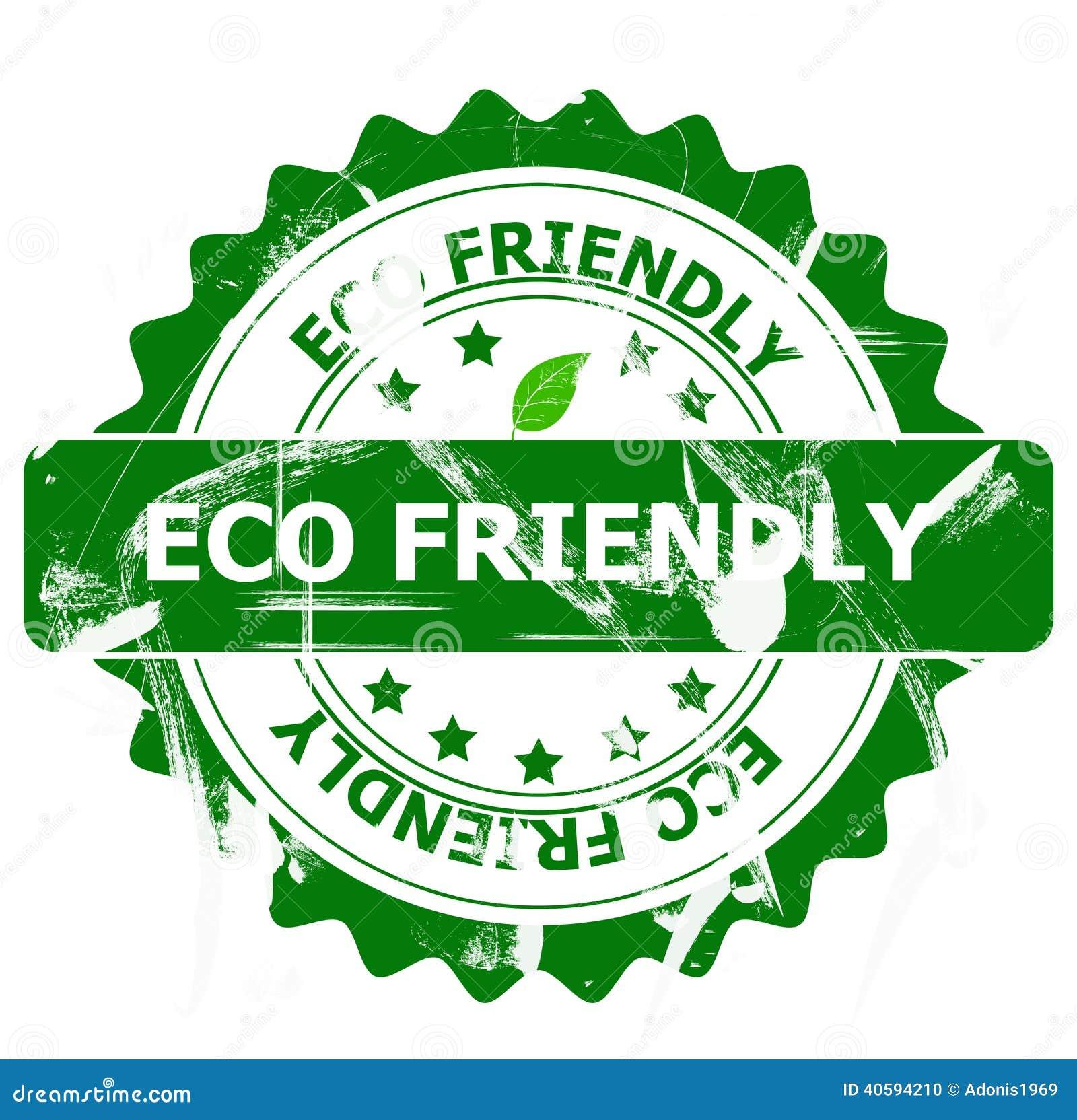 Eco vänlig stämpel