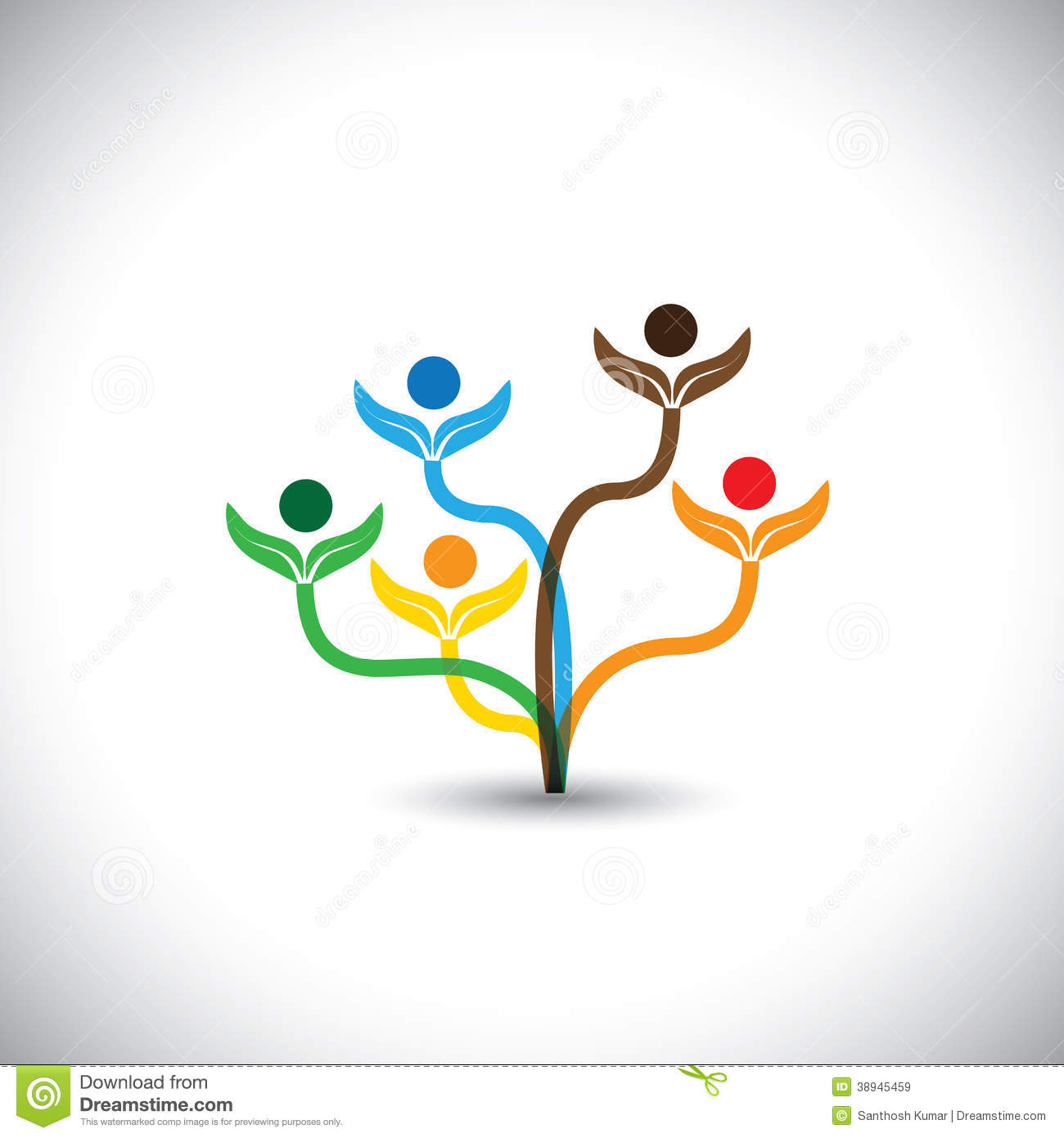 Eco Vector Icon Family Tree And Teamwork Concept Stock Vector Image 38945459