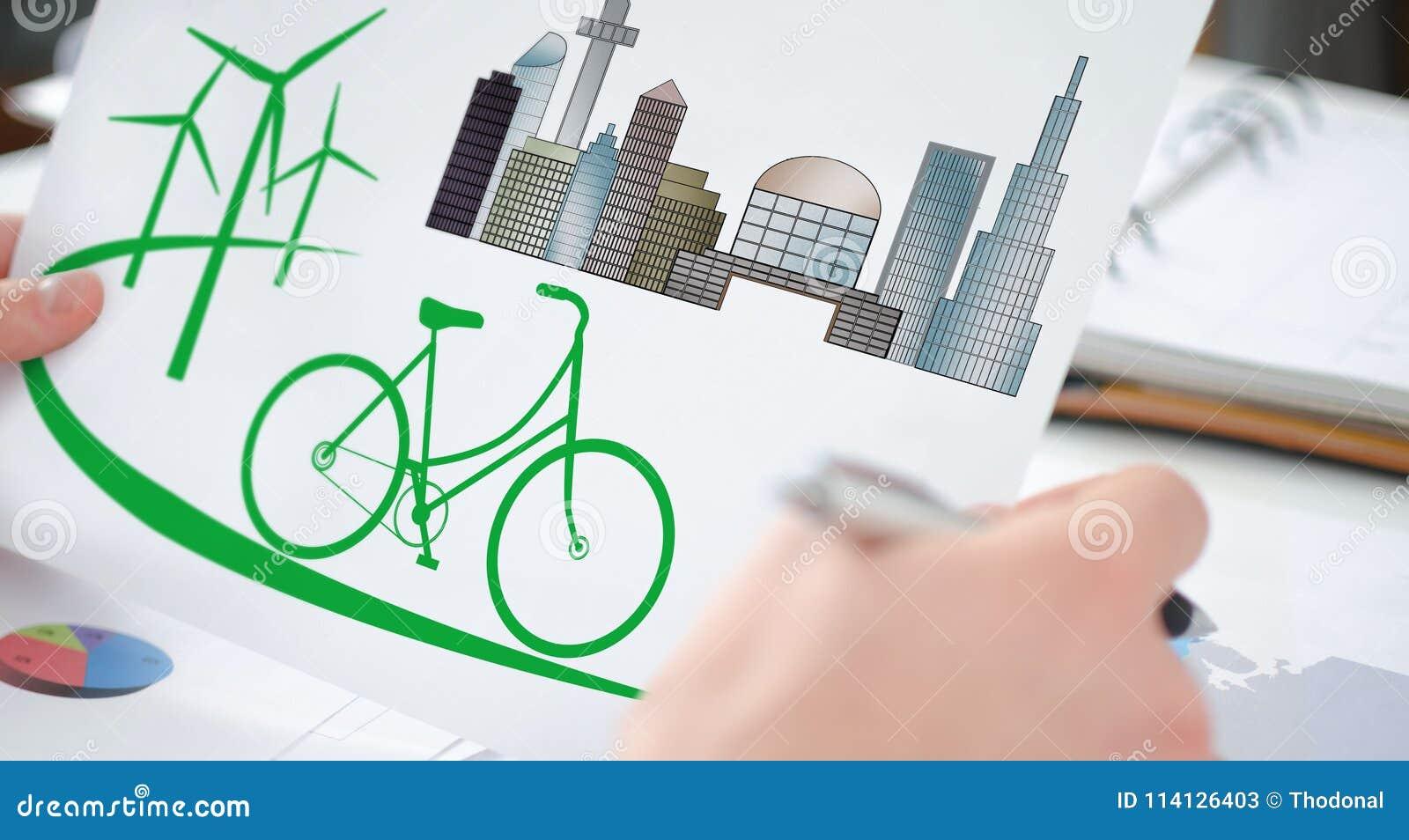 Eco vriendschappelijk concept op een document