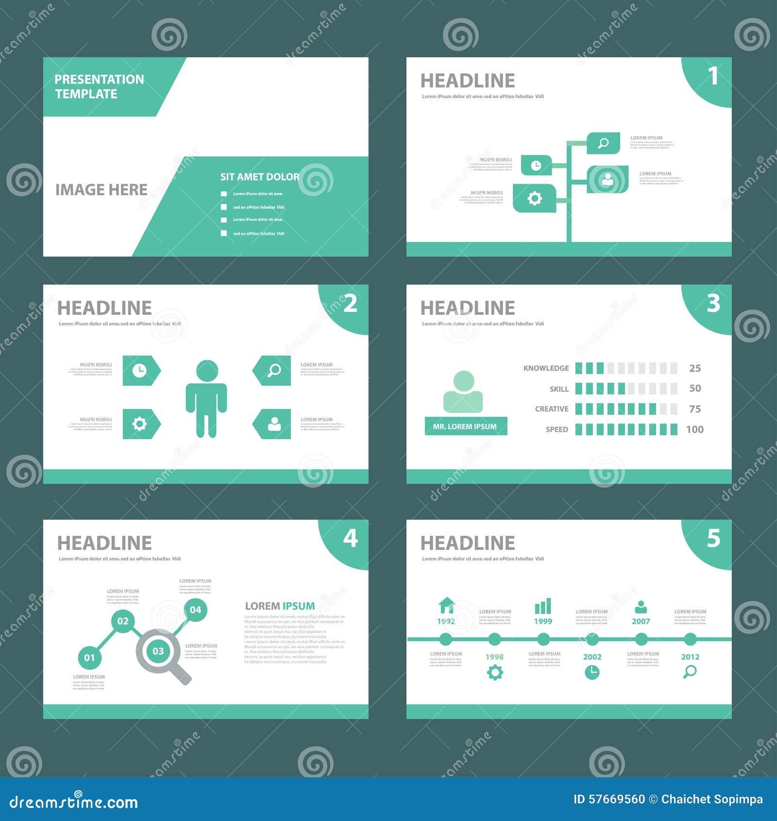 ECO zielonego wielocelowego infographic elementu płaski projekt ustawia dla prezentaci