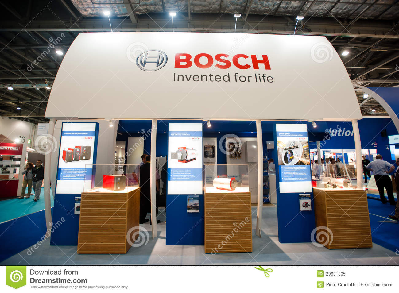 Exhibition Stand Terminology : Bosch booth editorial image