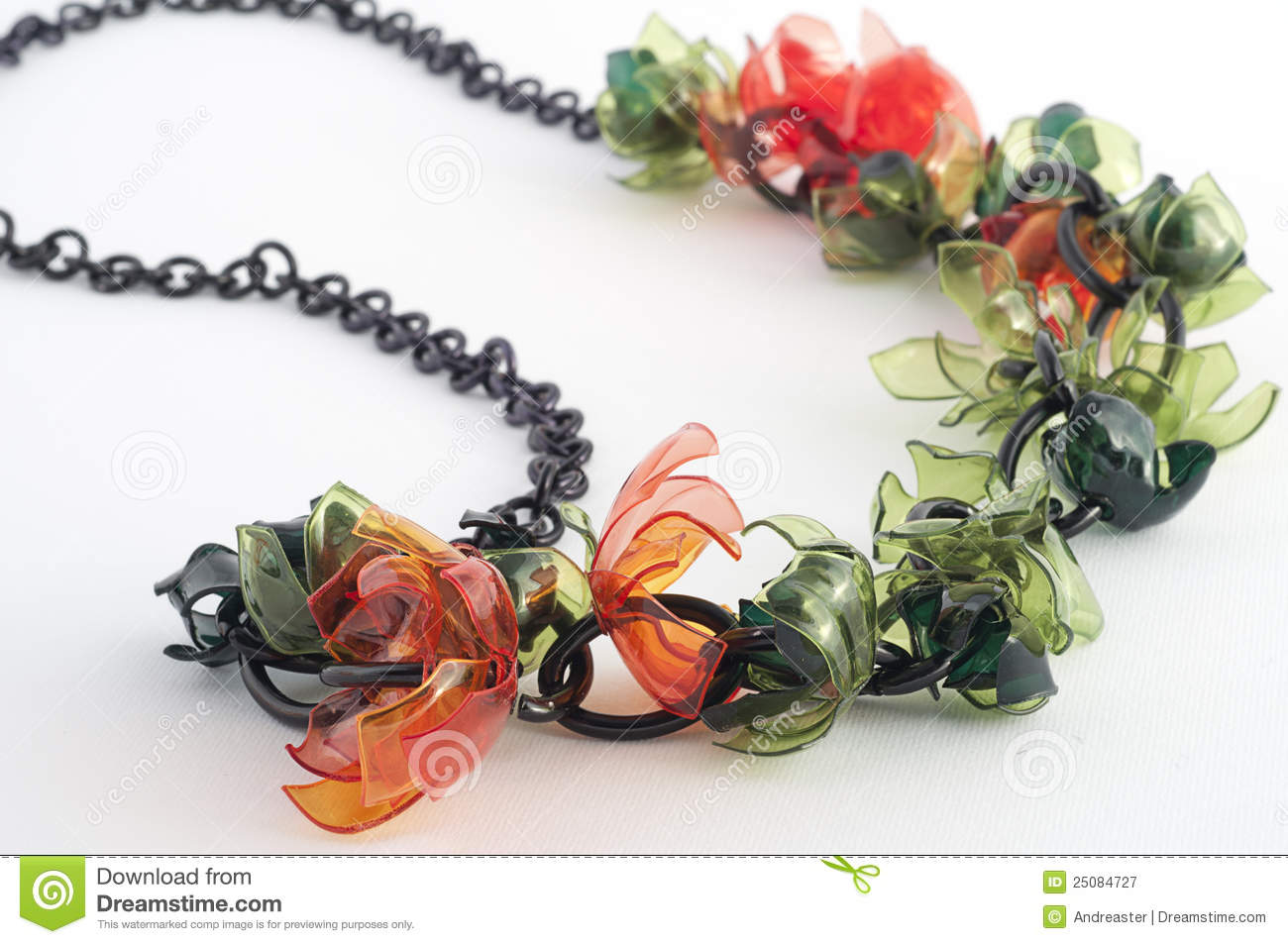 Ecojewelry Necklace From Recycled Plastic Bottles Royalty