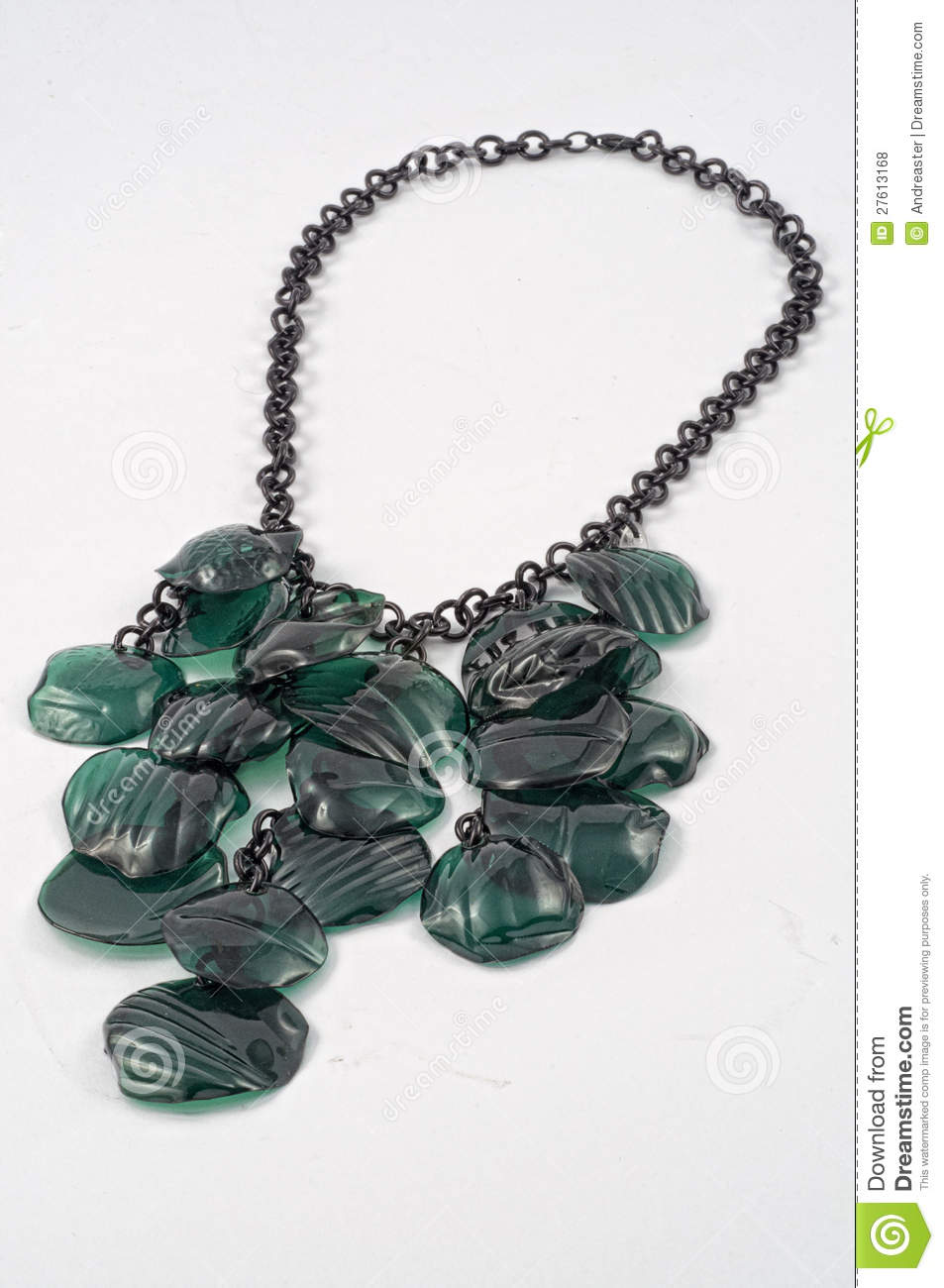 Ecojewelry necklace from recycled plastic bottles stock for Jewelry made from plastic bottles