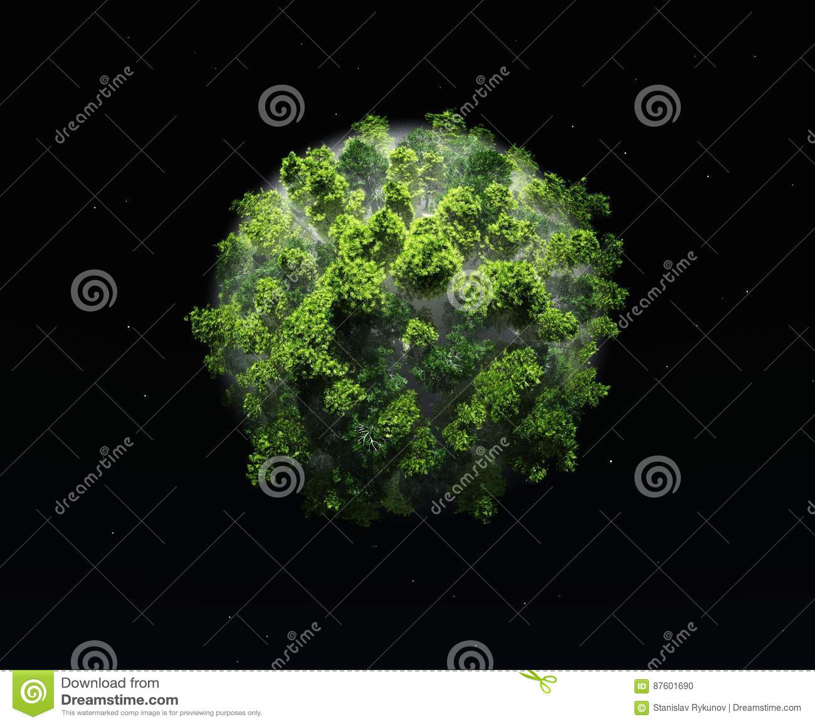 Ecología y naturaleza verdes del planeta