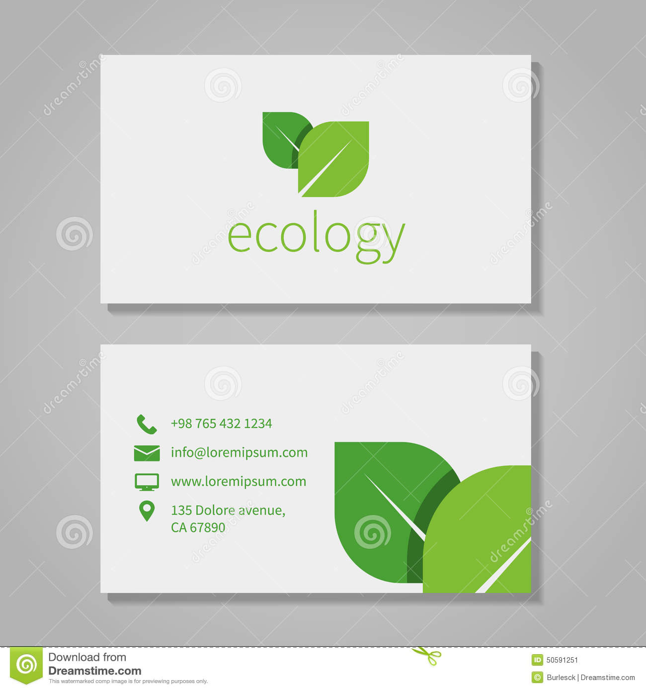 Ecological or eco energy company business card stock vector ecological or eco energy company business card reheart Images