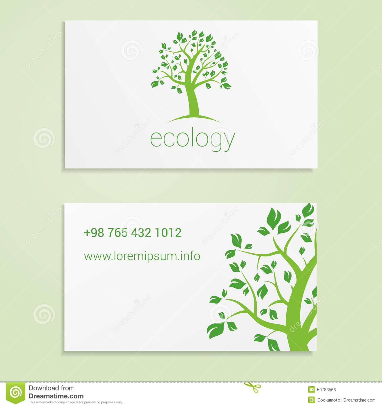 ecological or eco energy company business card stock vector   image 50783566
