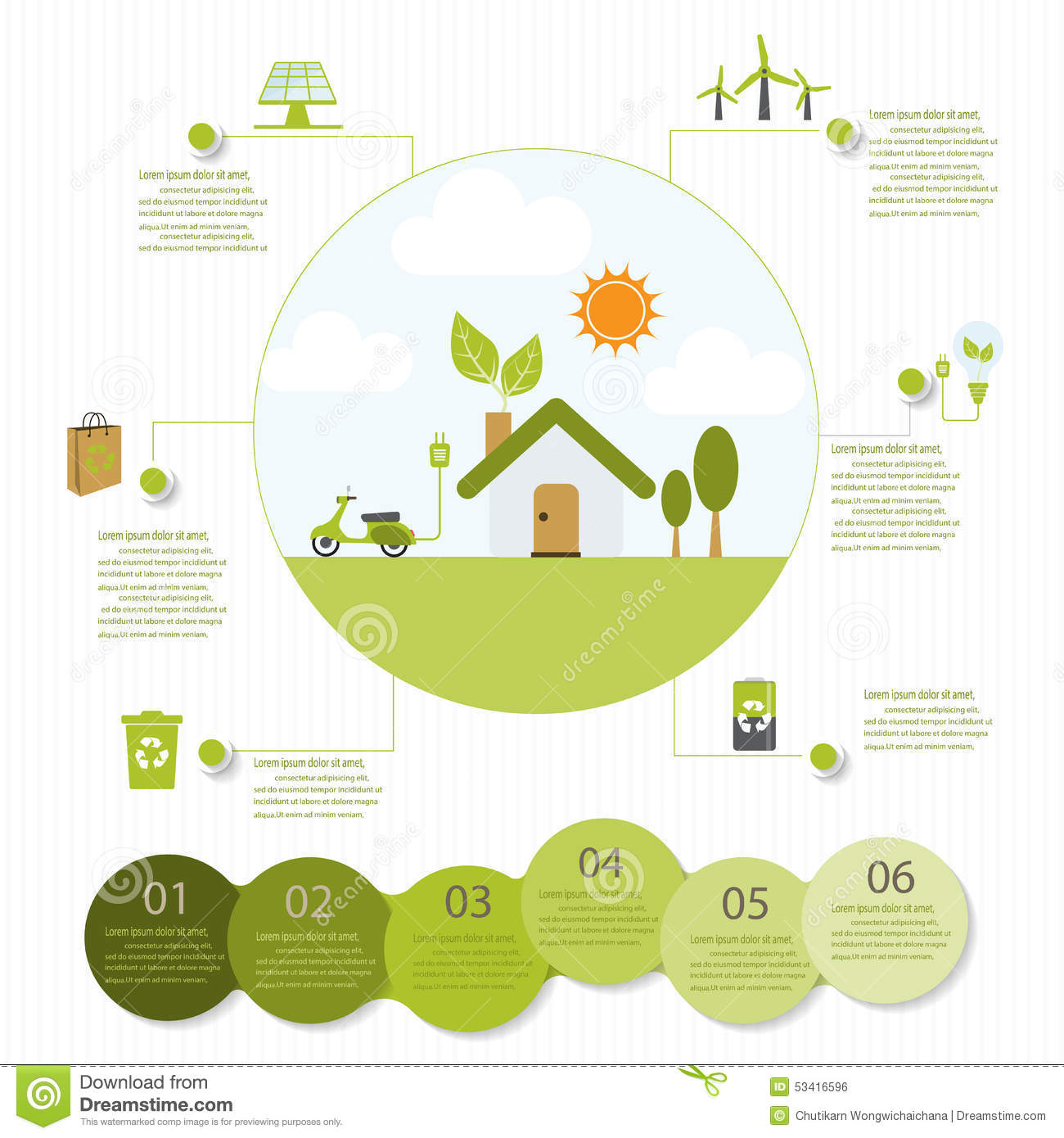 Ecological Infographics Stock Vector Image 53416596