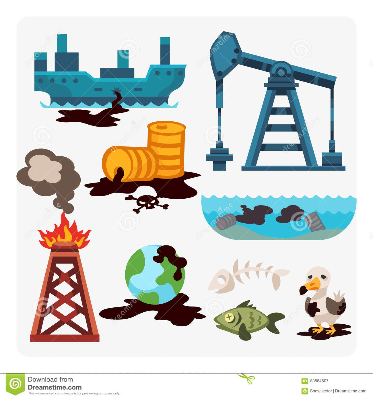 Ecological problems environmental oil pollution of water earth air deforestation destruction of animals mills factories