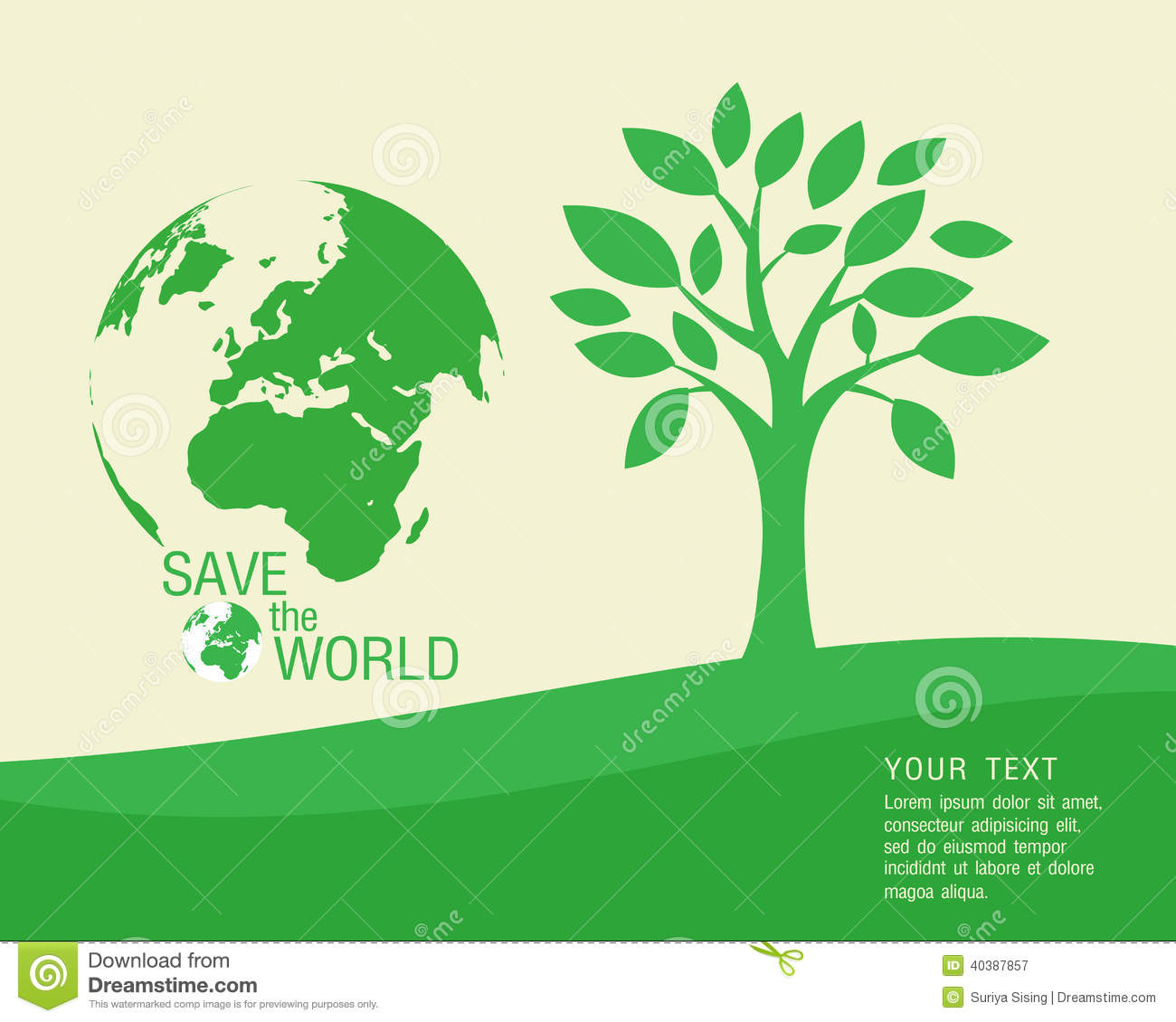 Ecological And Save The World Green Stock Vector Illustration Of