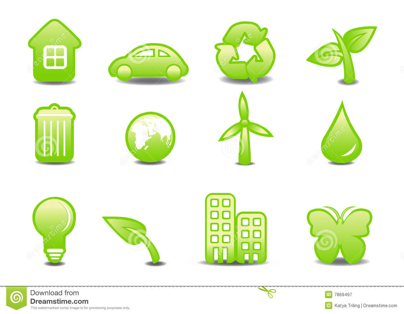 Download Ecological signs stock vector. Illustration of energy - 7869497