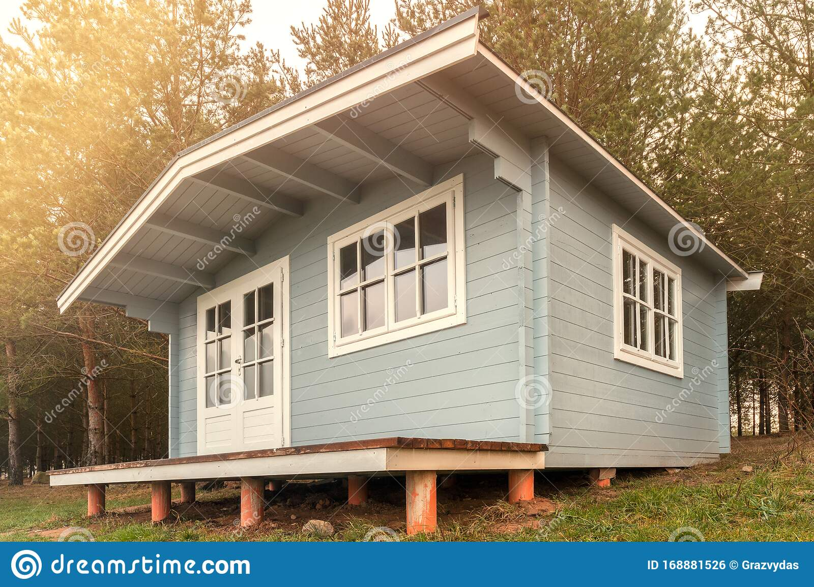 Ecological Small Wooden House Stock Photo Image Of Wooden Nature 168881526
