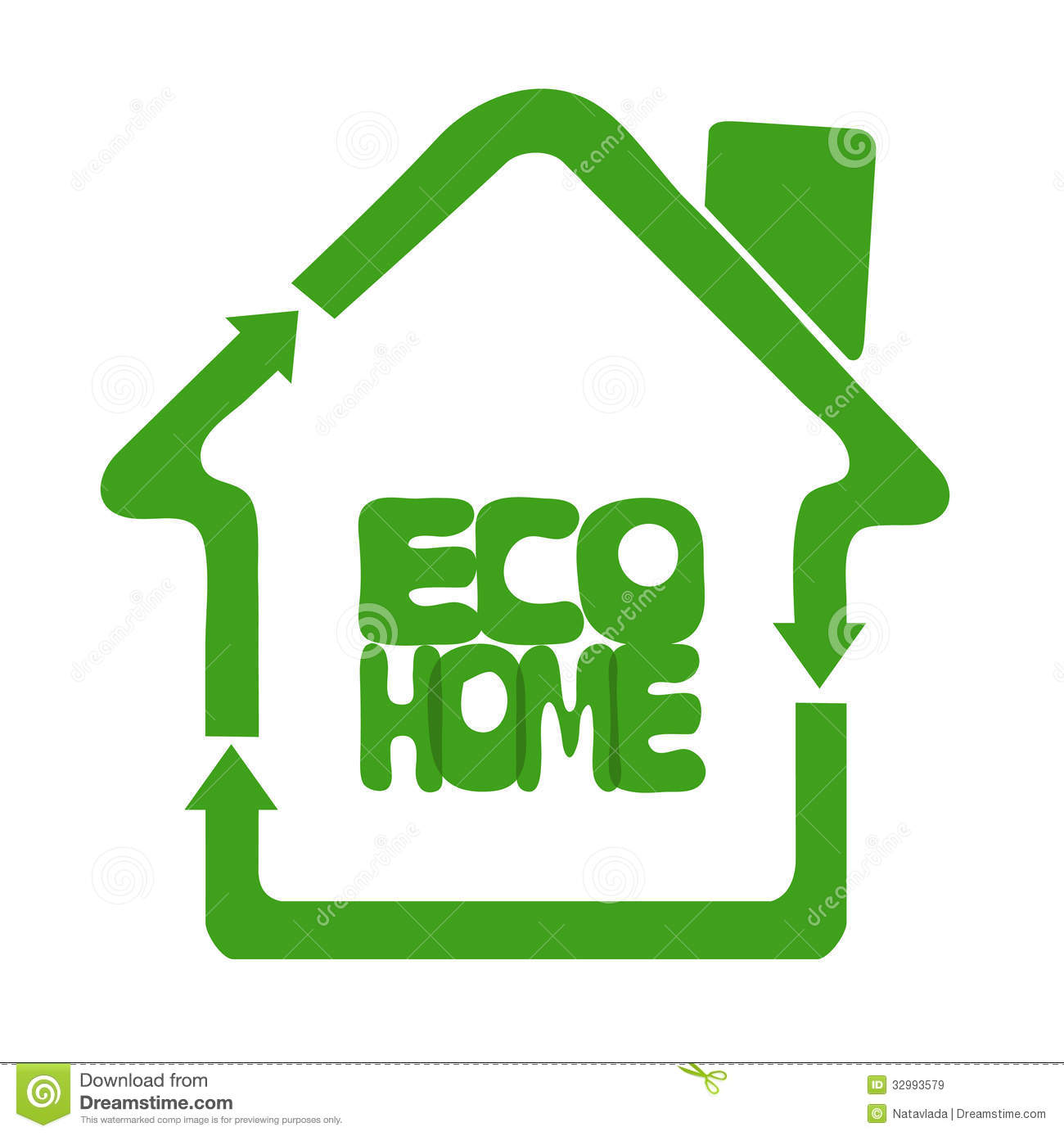 Ecologically Eco Clean Home Stock Vector Illustration Of Ideas