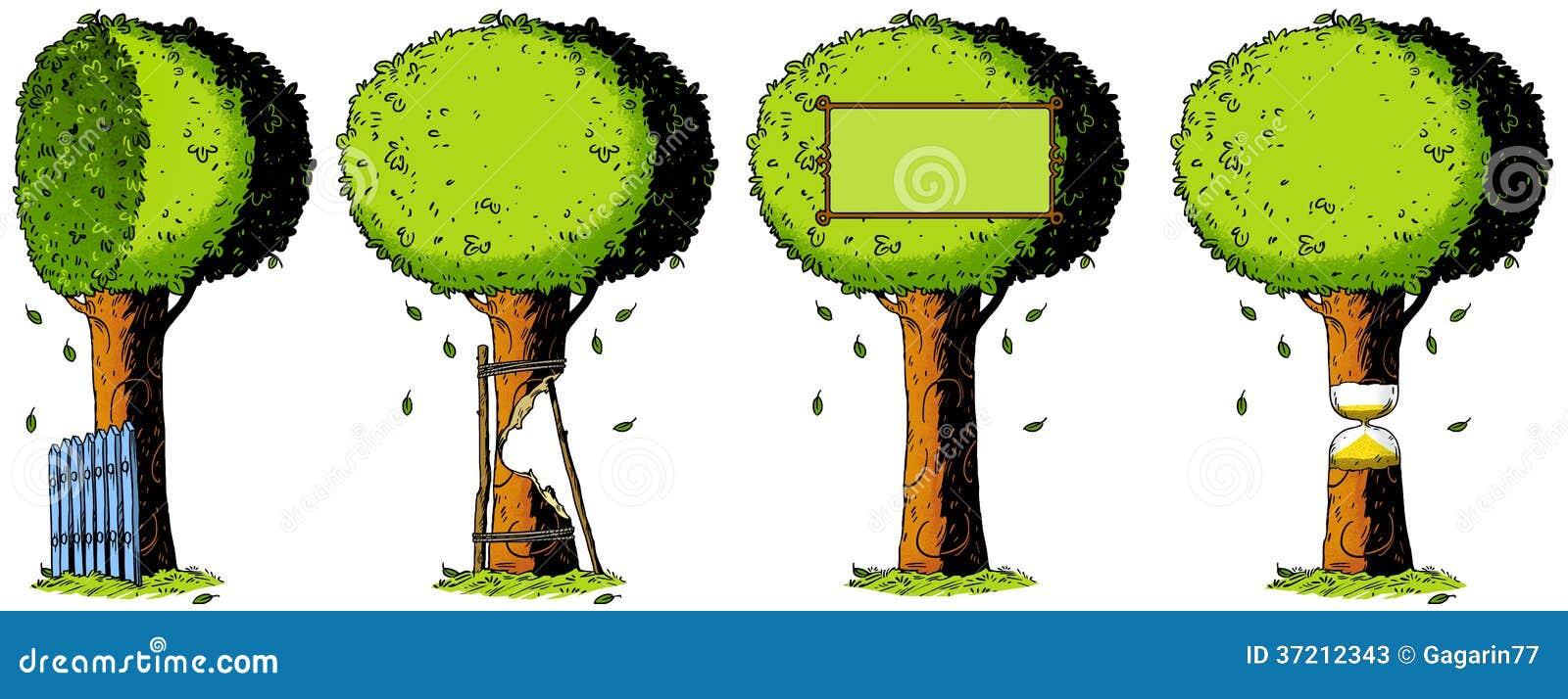 Stock foto's: ecologie, aard, boom, illustratie, tekening, metafoor