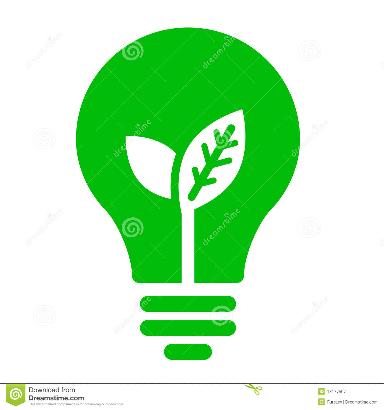 Ecology bulb icon stock vector. Illustration of future ...