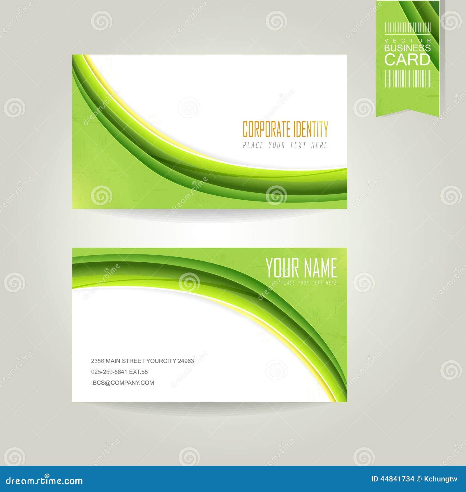 Green Business Card Background - ezmoney88