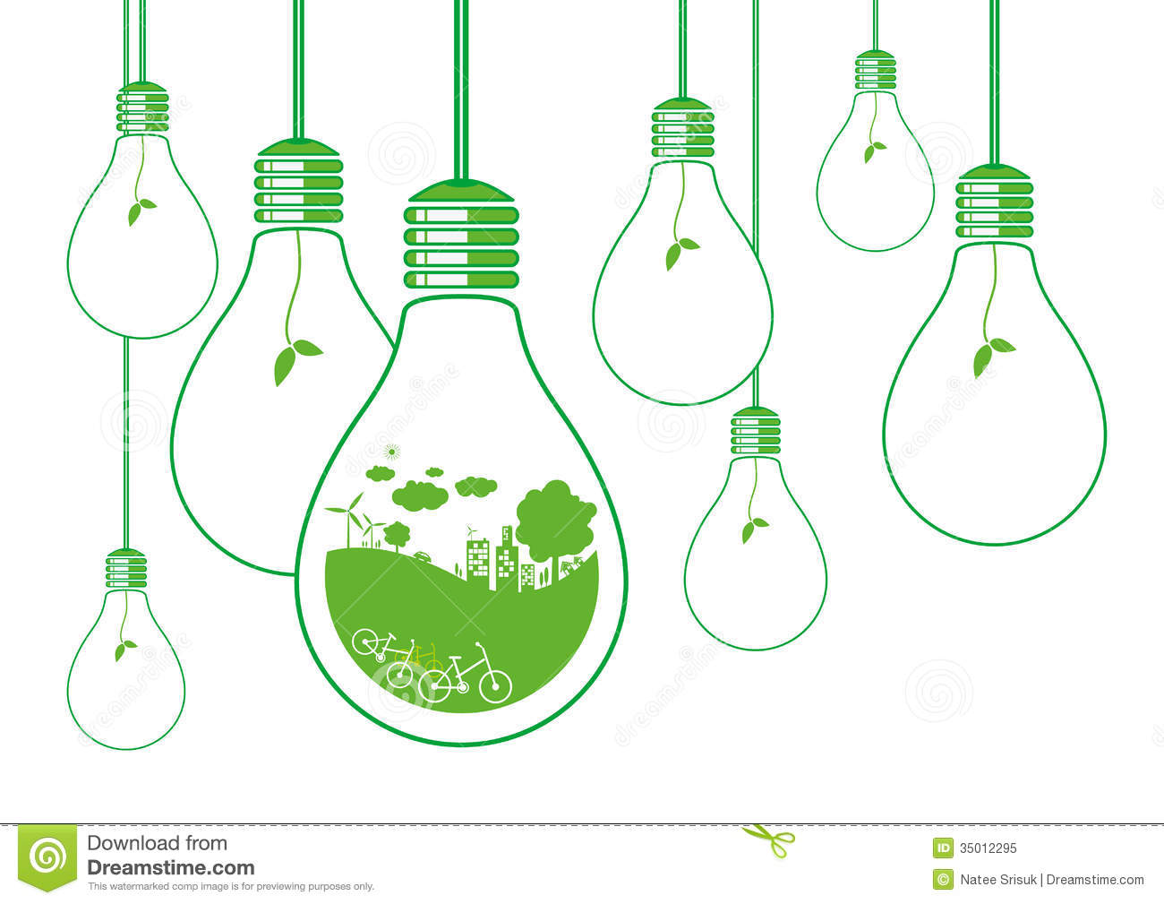 Ecology Concept Stock Vector. Illustration Of Light, Idea