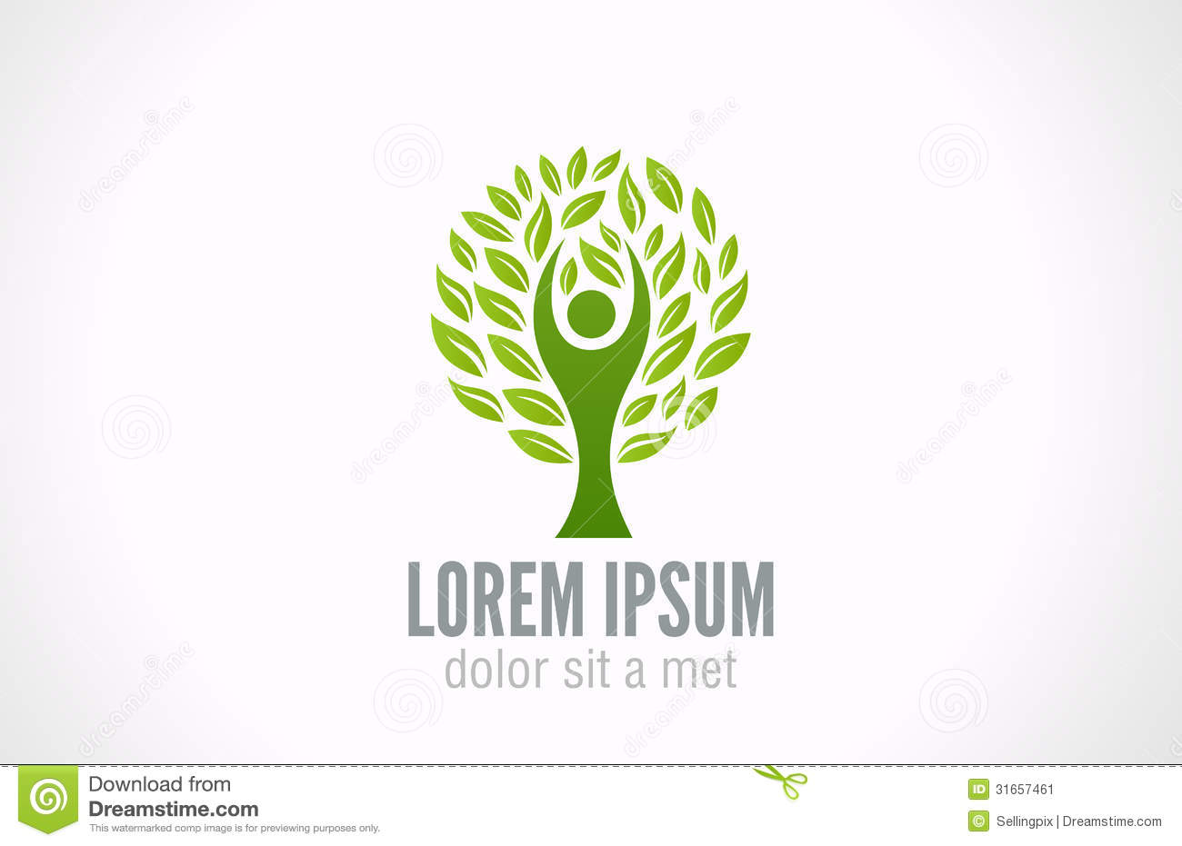 Ecology Concept Eco Green Tree Logo Template Stock Image