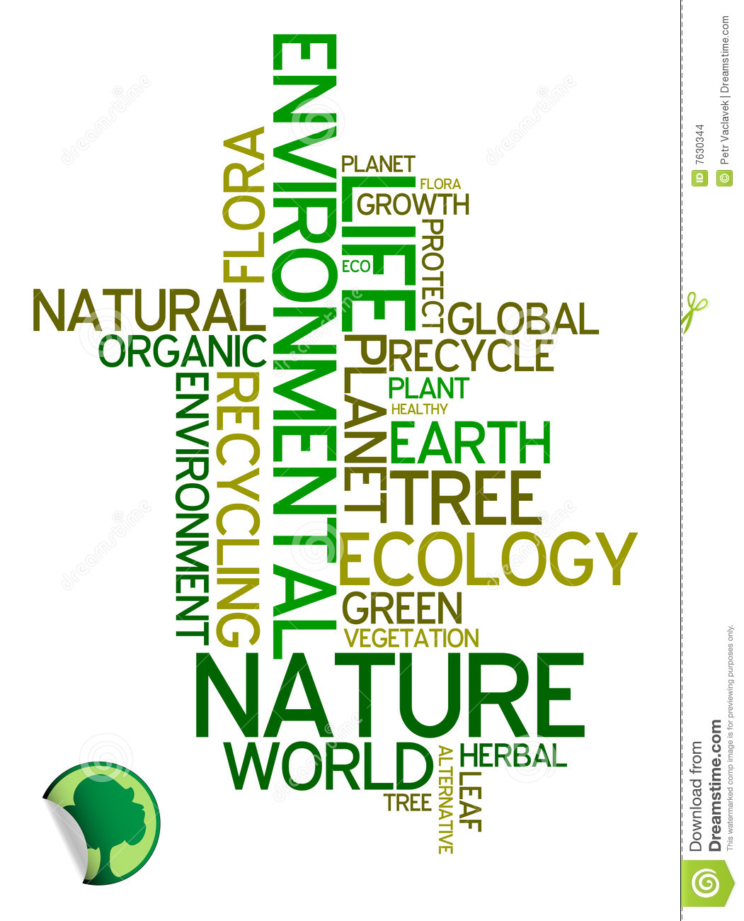 Nature Ecology: Environmental Poster Stock Images