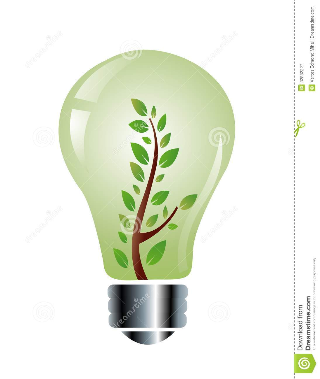 Ecology Friendly Light Bulb Royalty Free Stock Photography ...
