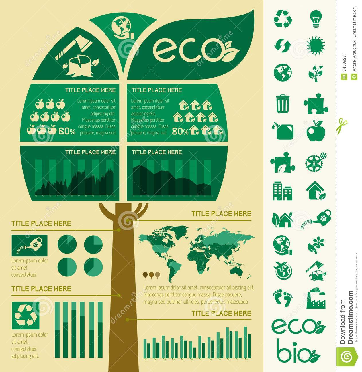 ecology infographic template  royalty free stock