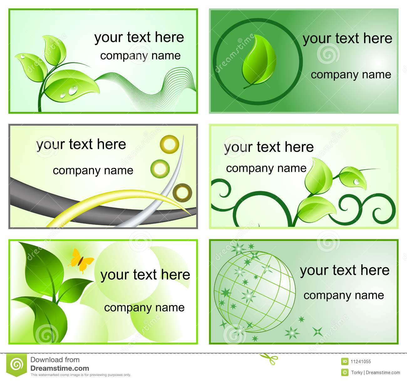 ecology logos and business cards templates royalty free stock