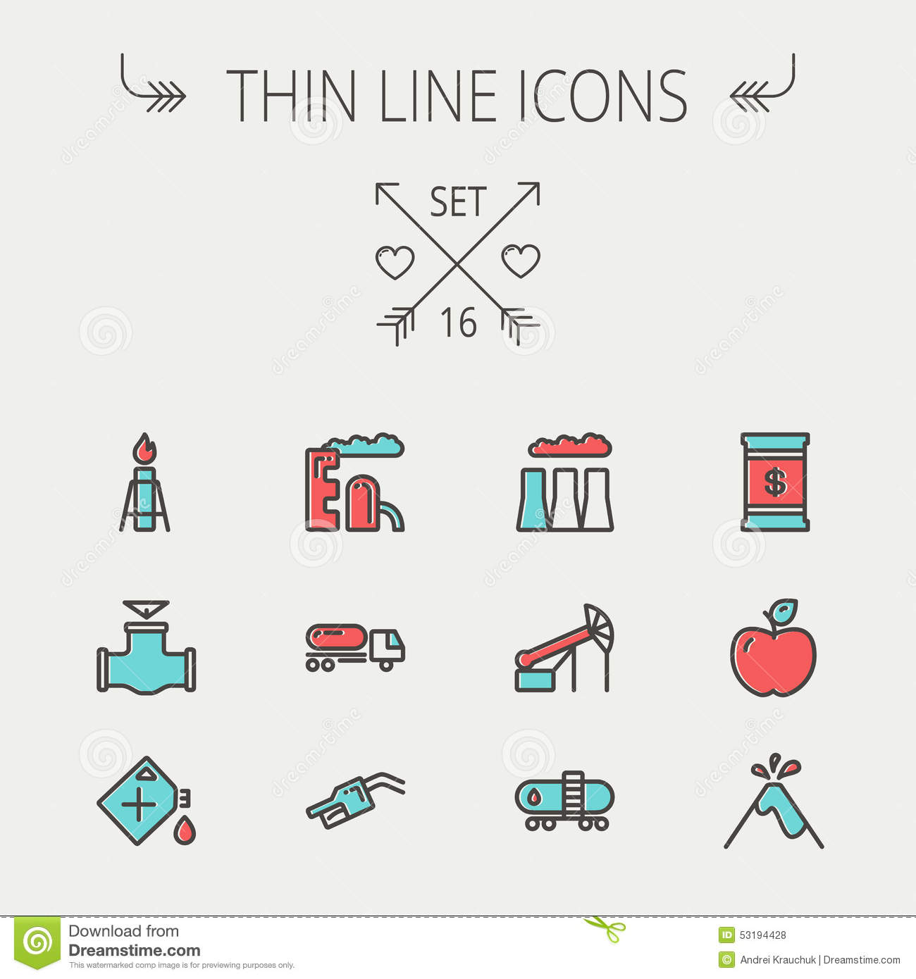 Ecology Thin Line Icon Stock Vector Image 53194428