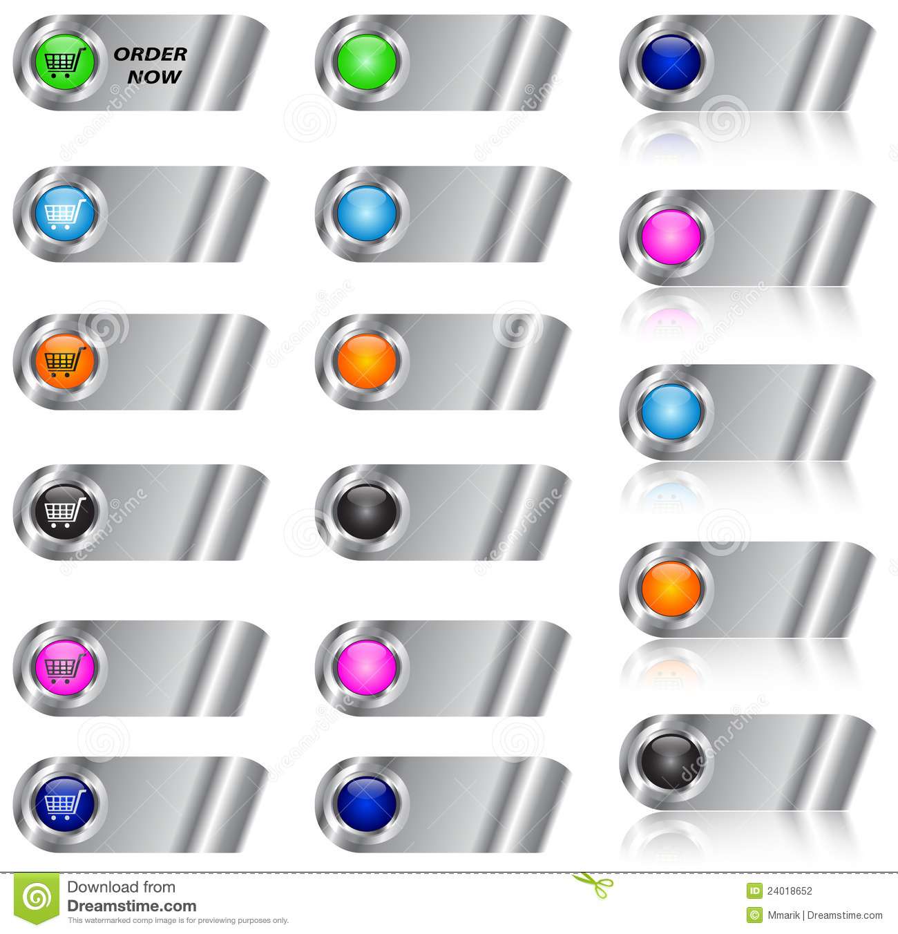 ecommerce and blank button  icon set stock photography
