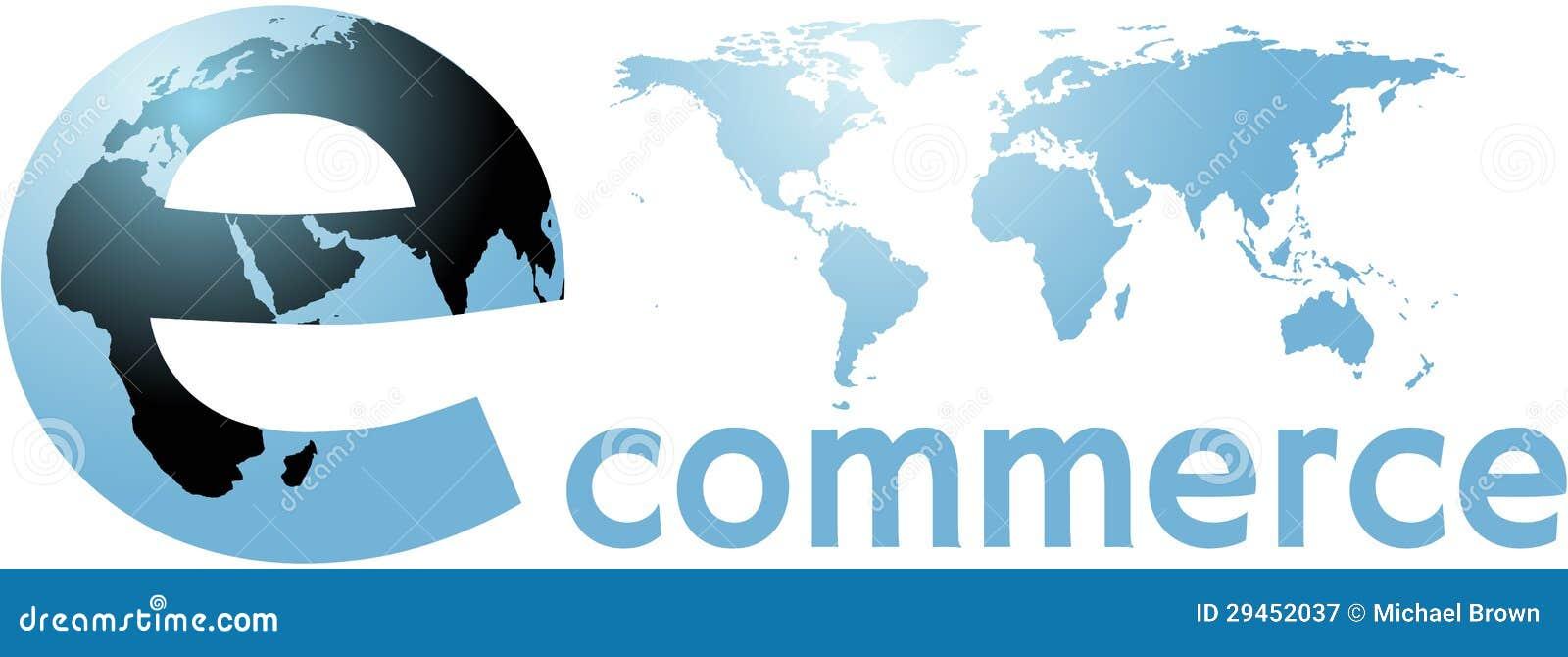 Ecommerce globalnego ziemskiego interneta światowy słowo