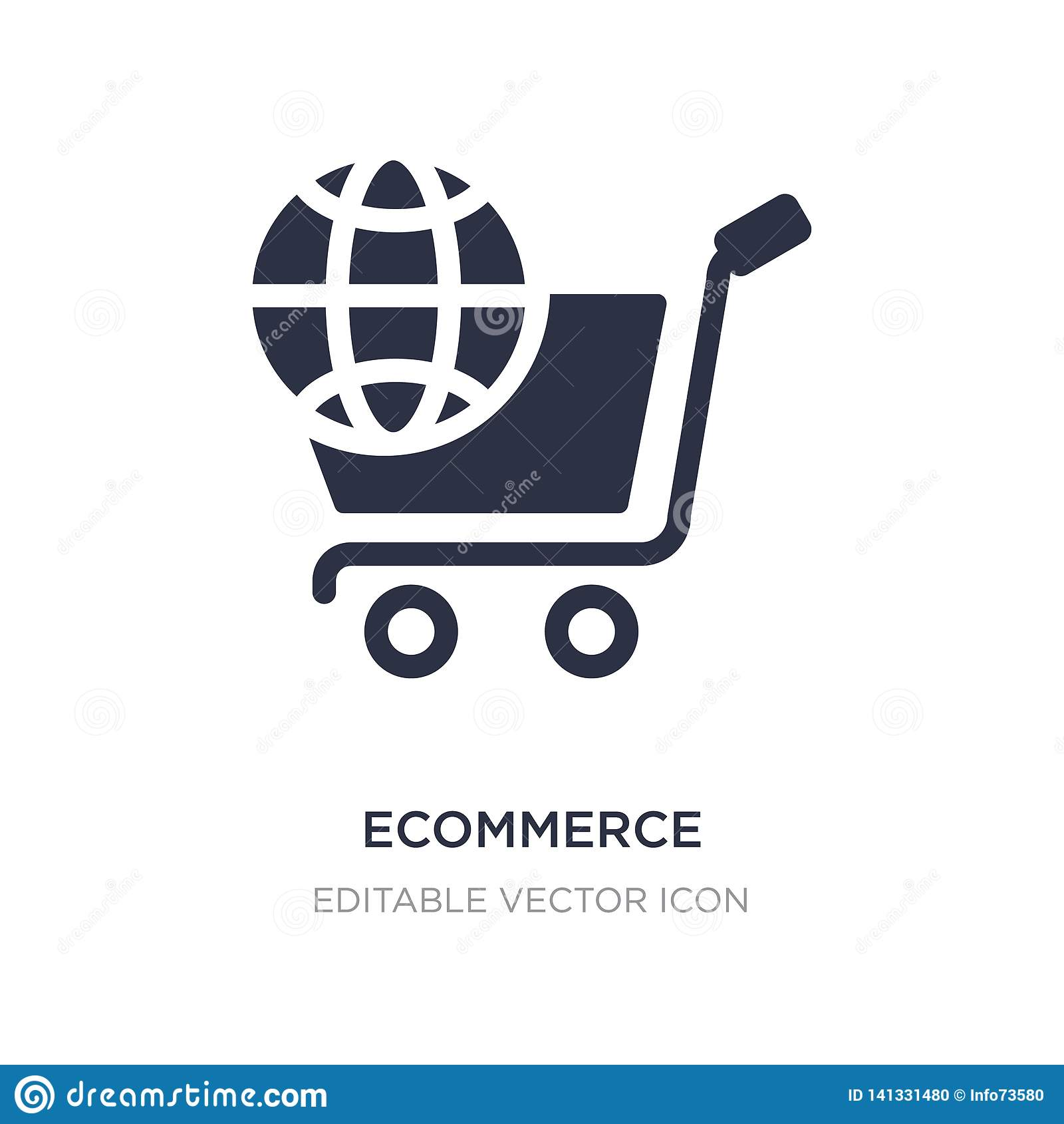ecommerce icon on white background. Simple element illustration from Social media marketing concept