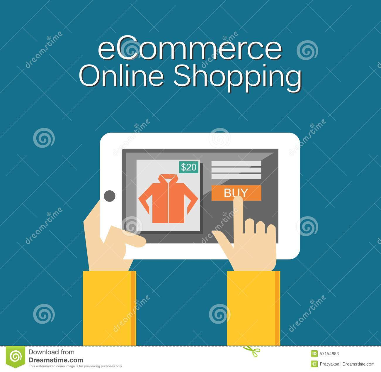 Ecommerce illustration online shopping illustration flat for Onlineshop design mobel