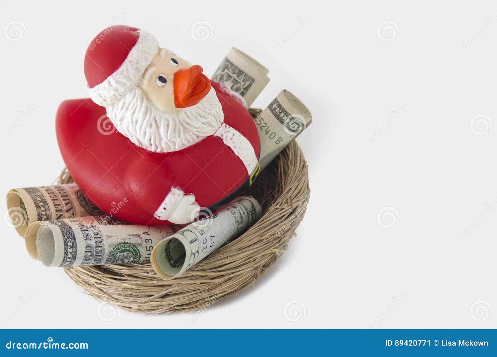 Economias do pato de Santa para o Natal