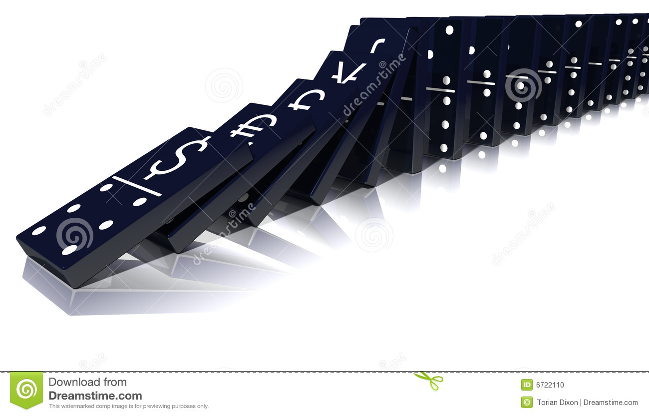 economic domino effect stock photo image  economic domino effect