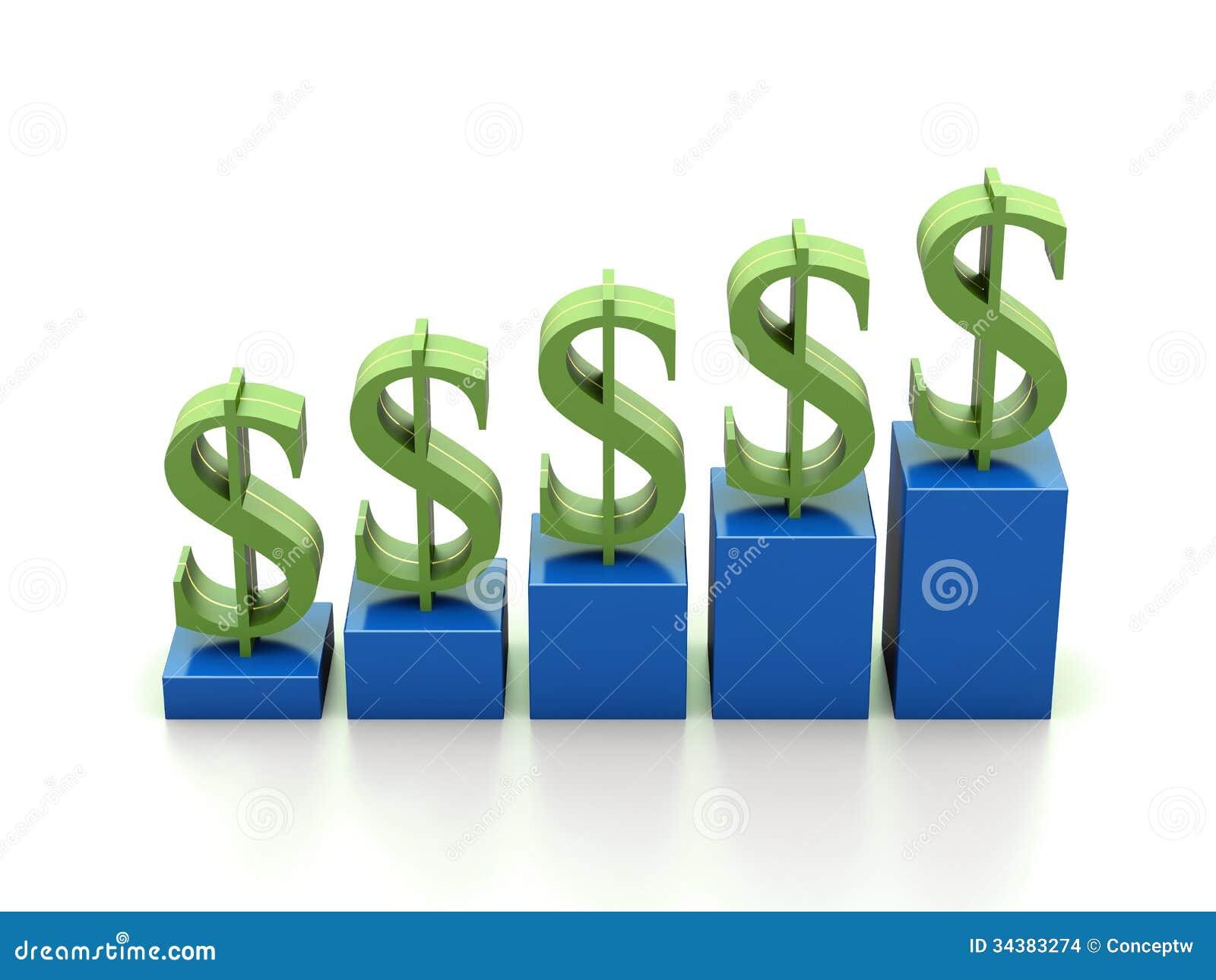 economic graph stock illustration illustration of business 34383274