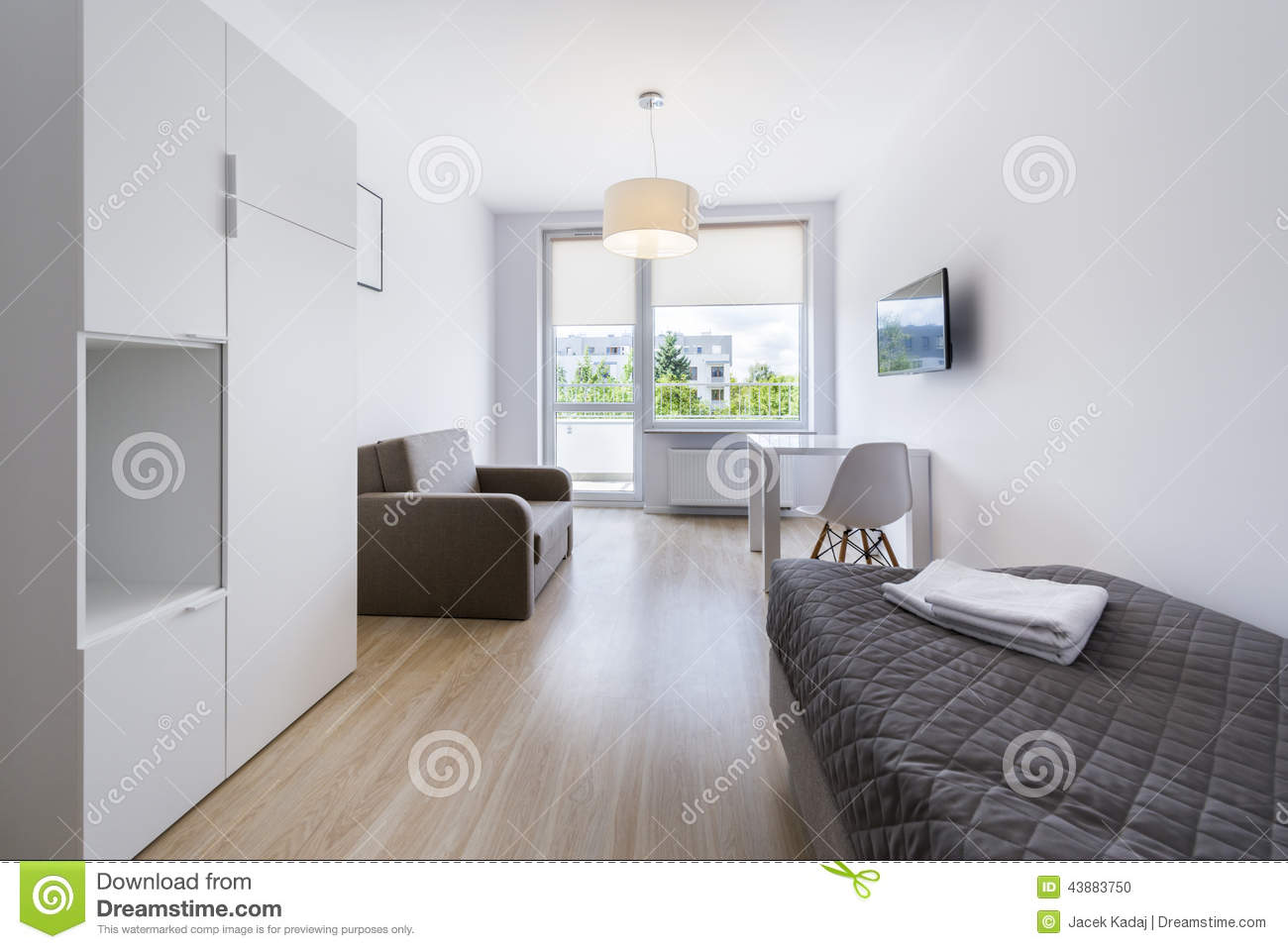 Economic modern sleeping room interior design stock photo for Sleeping room interior design