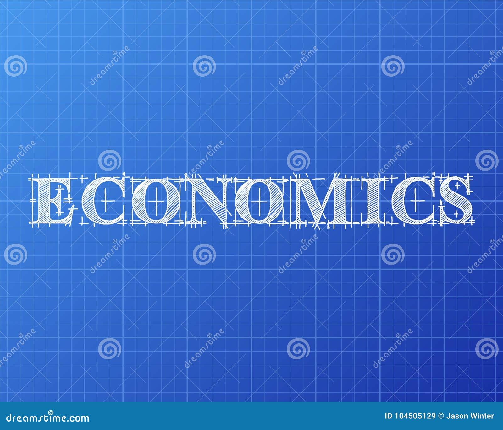 Economics word blueprint stock vector illustration of economics download comp malvernweather Gallery